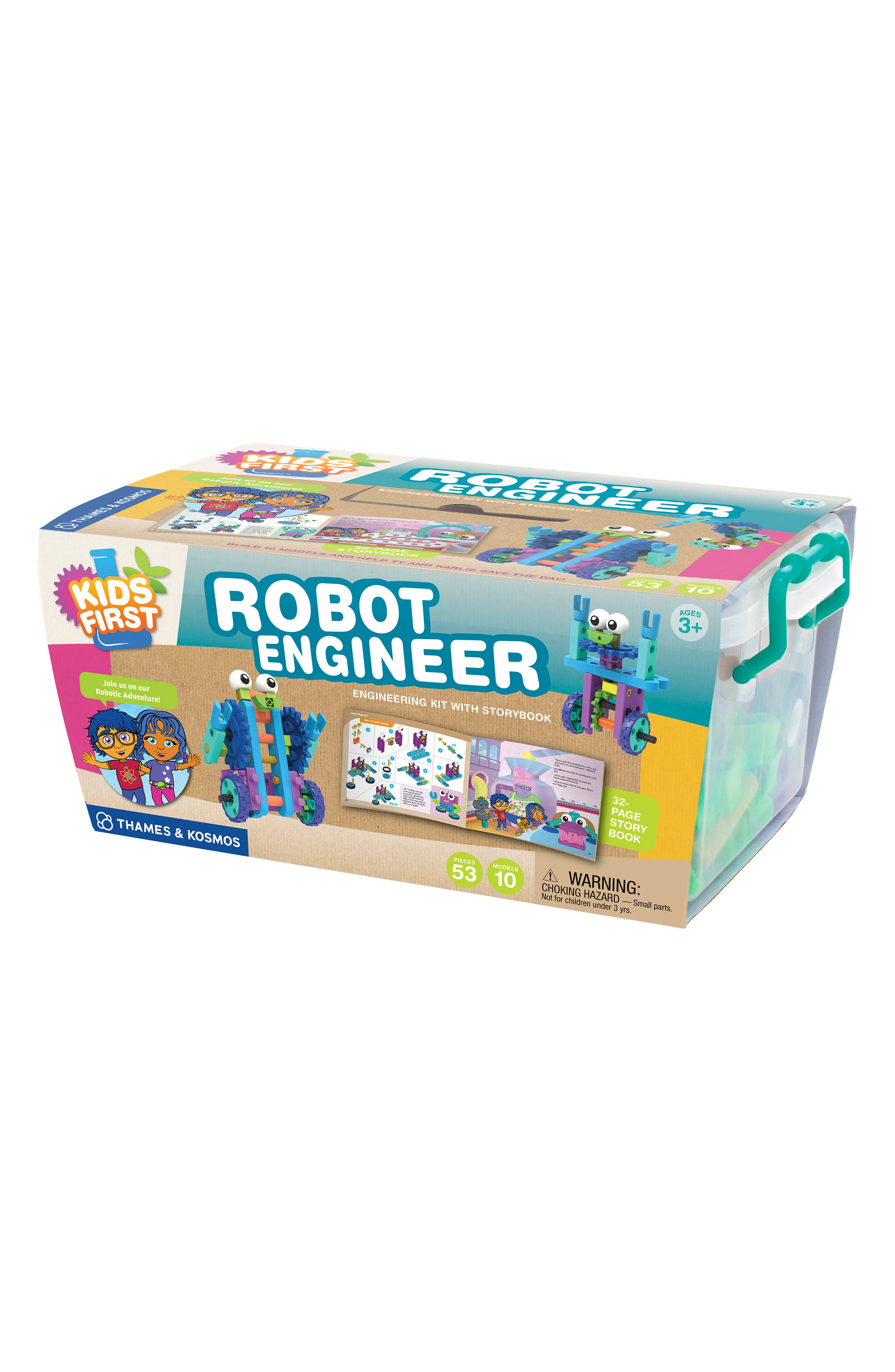Robot Engineer Building Set & Storybook,                         Main,                         color, Blue