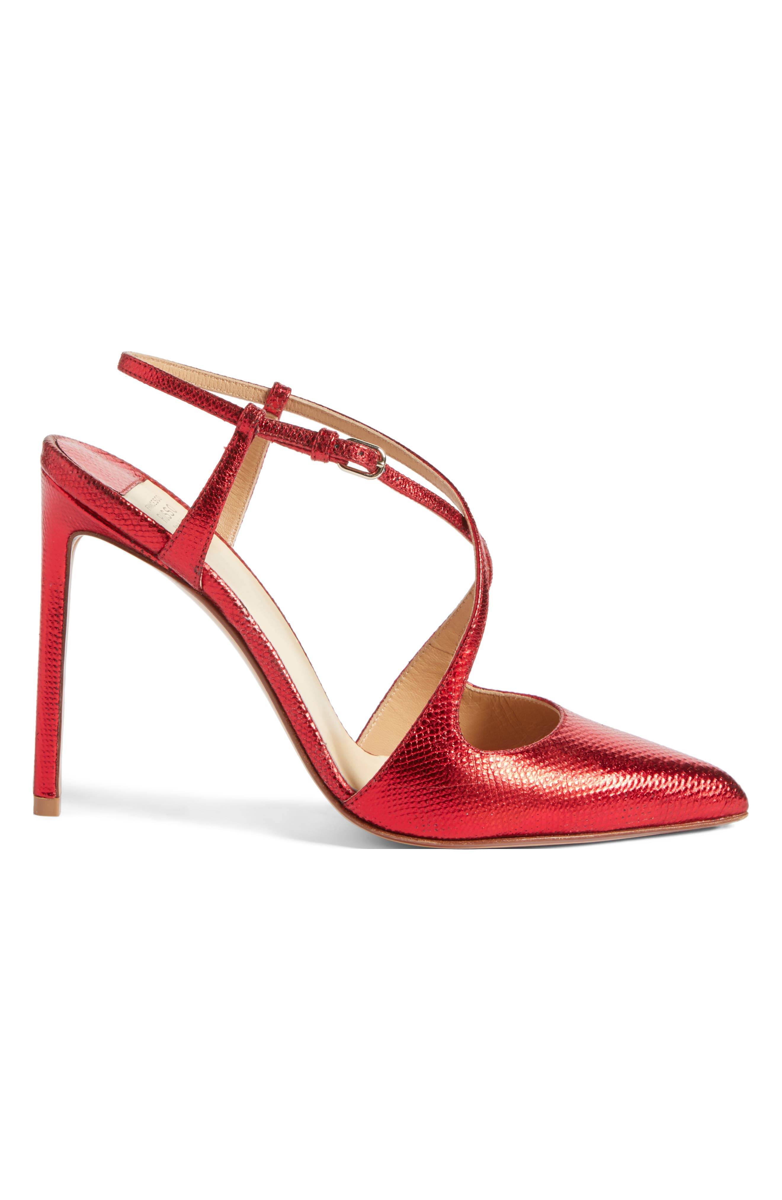 Alternate Image 3  - Francesco Russo Criss Cross Genuine Snakeskin Pump (Women)