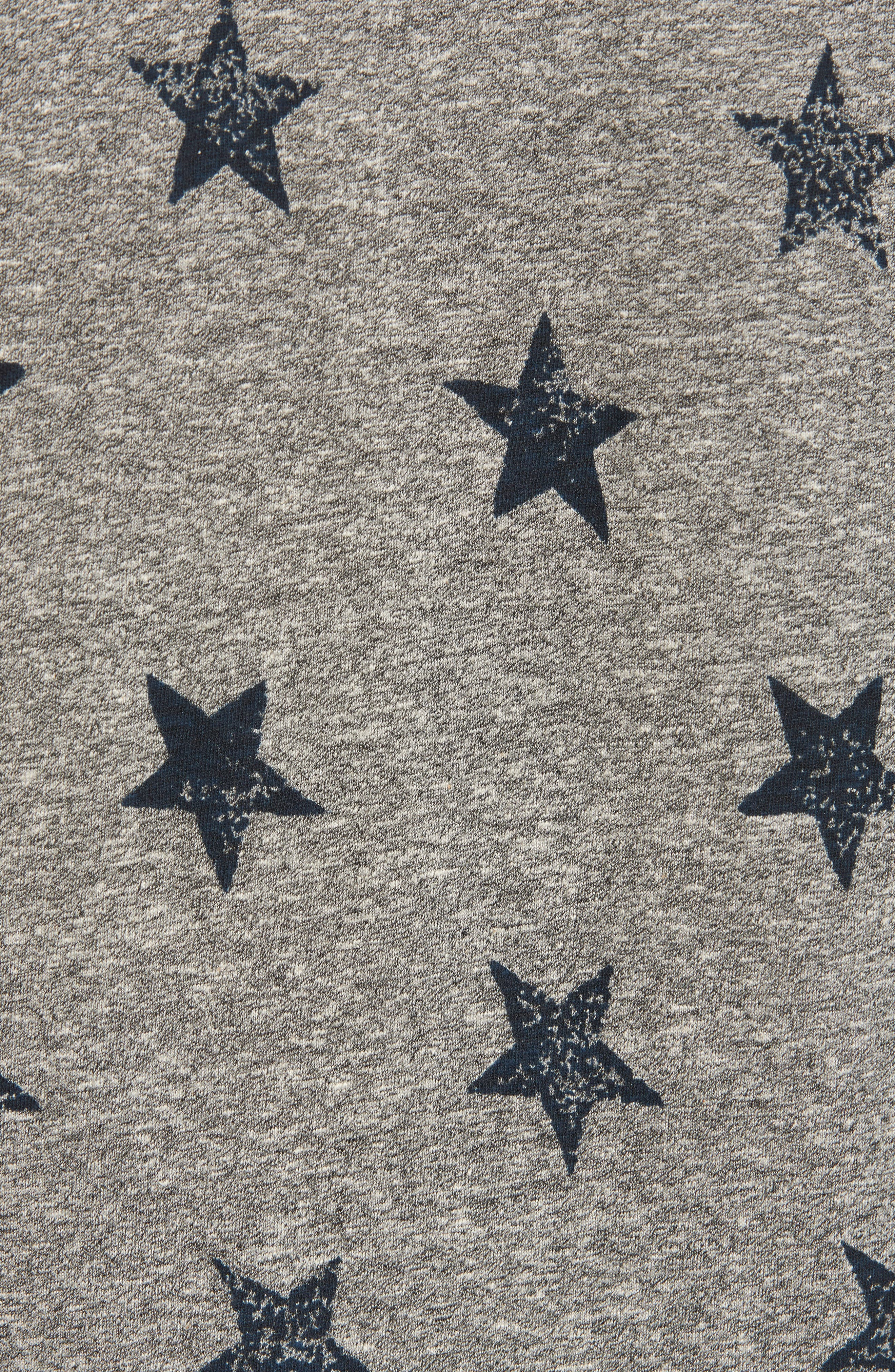 The Muscle Tee Dress,                             Alternate thumbnail 4, color,                             Heather Grey W/ Big Navy Stars