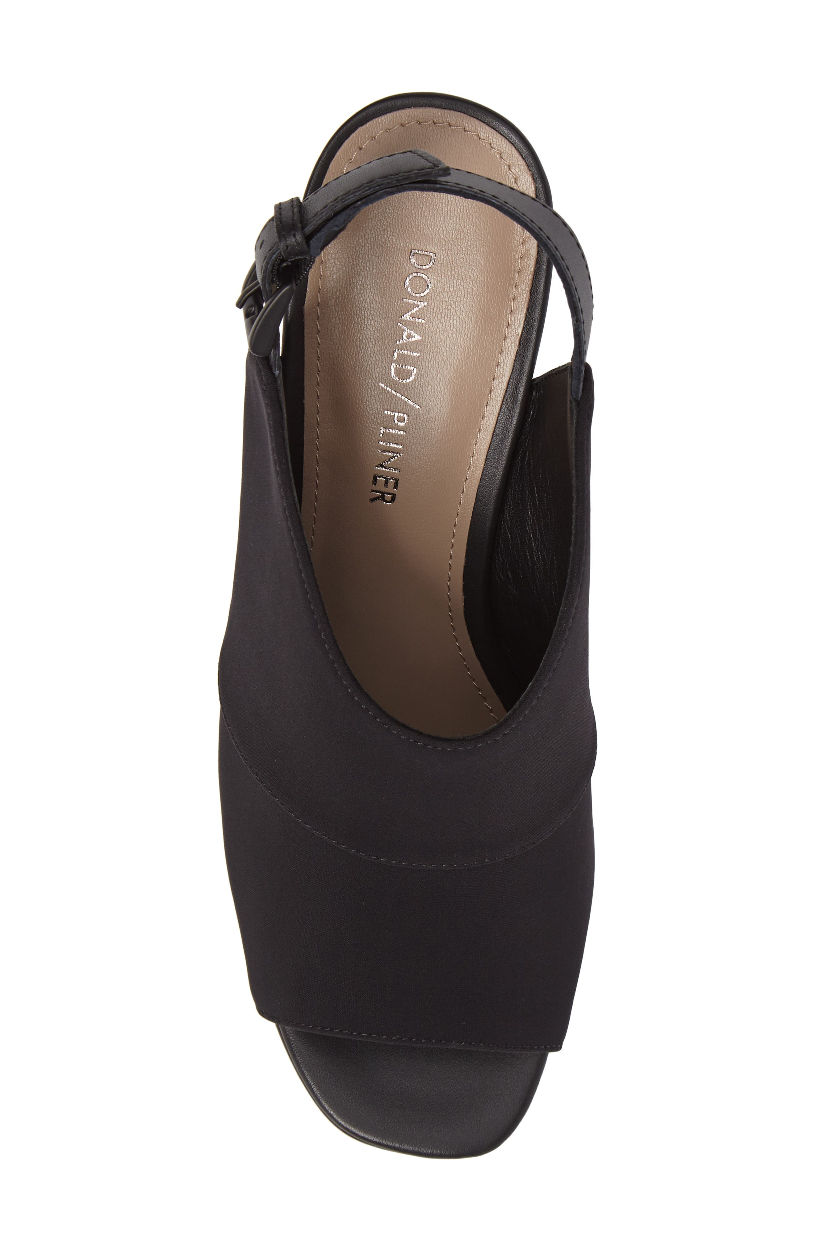 Donald J Pliner Hemi Slingback Sandal,                             Alternate thumbnail 5, color,                             Black Fabric