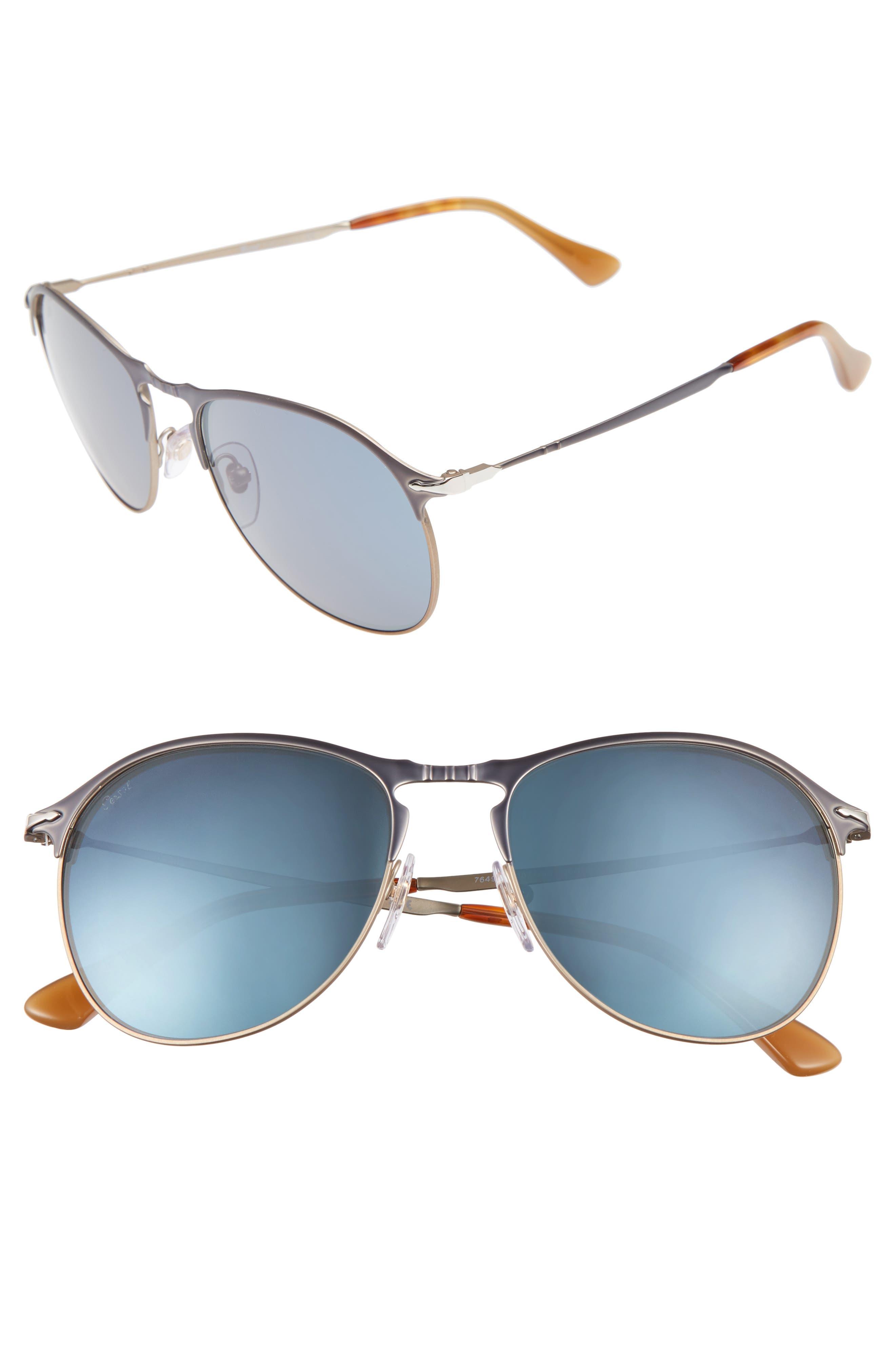 PERSOL Sartoria 56m Aviator Sunglasses