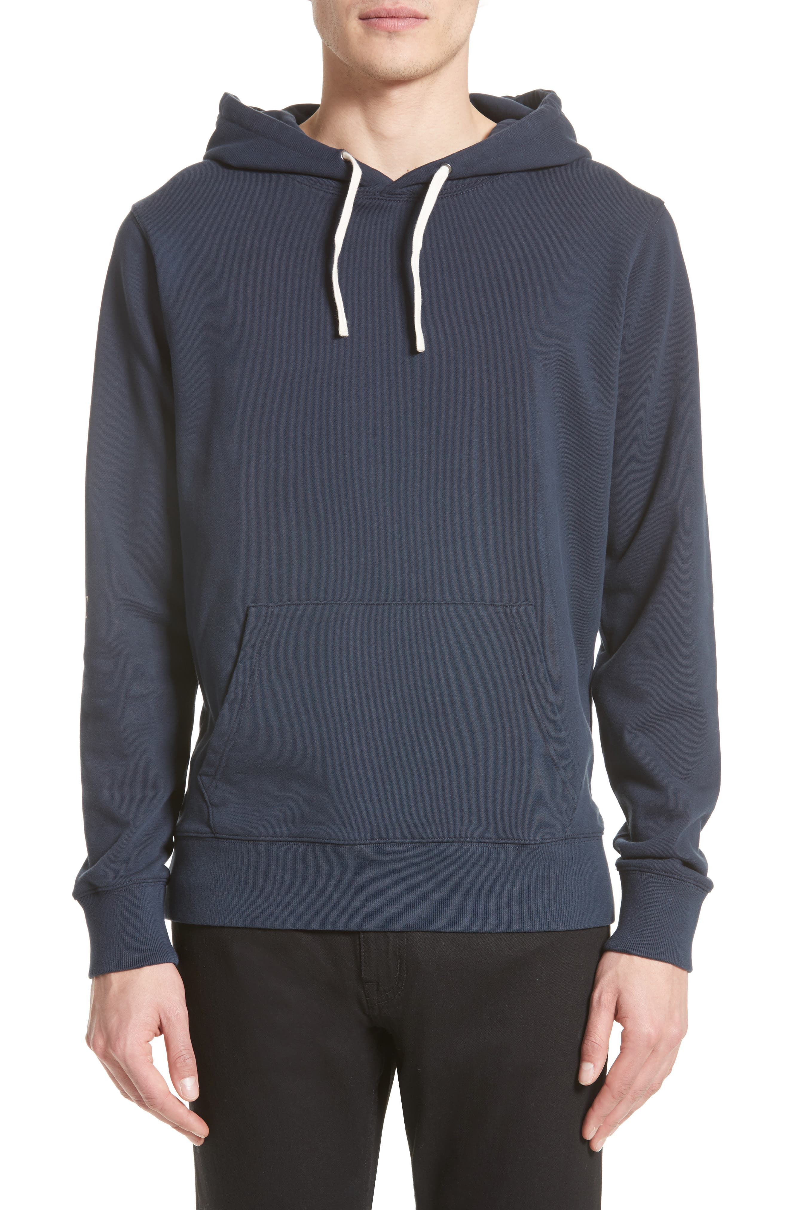 Ditch Sleeve Logo Hoodie,                             Main thumbnail 1, color,                             Midnight
