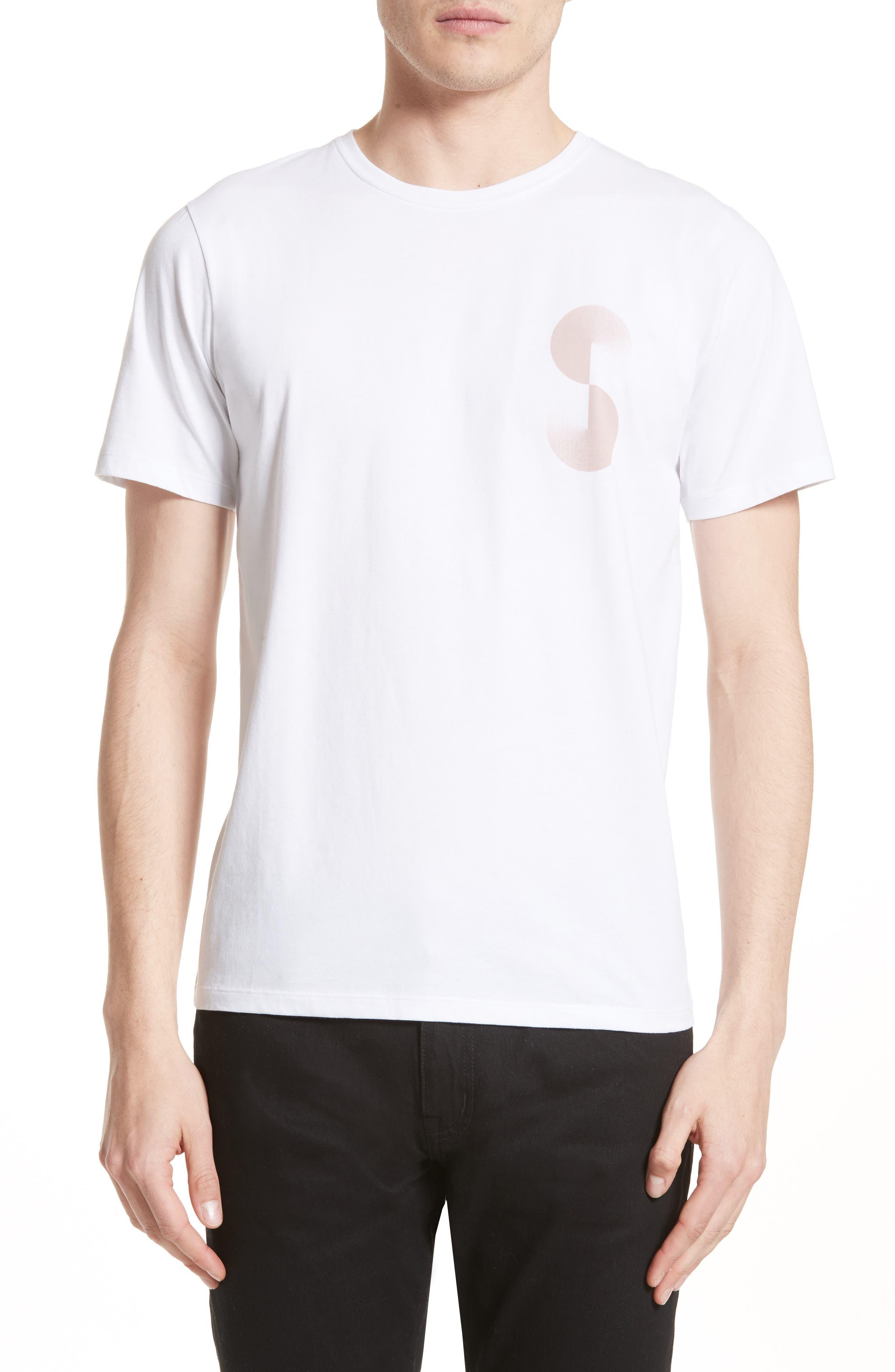 Gradient Graphic T-Shirt,                         Main,                         color, White