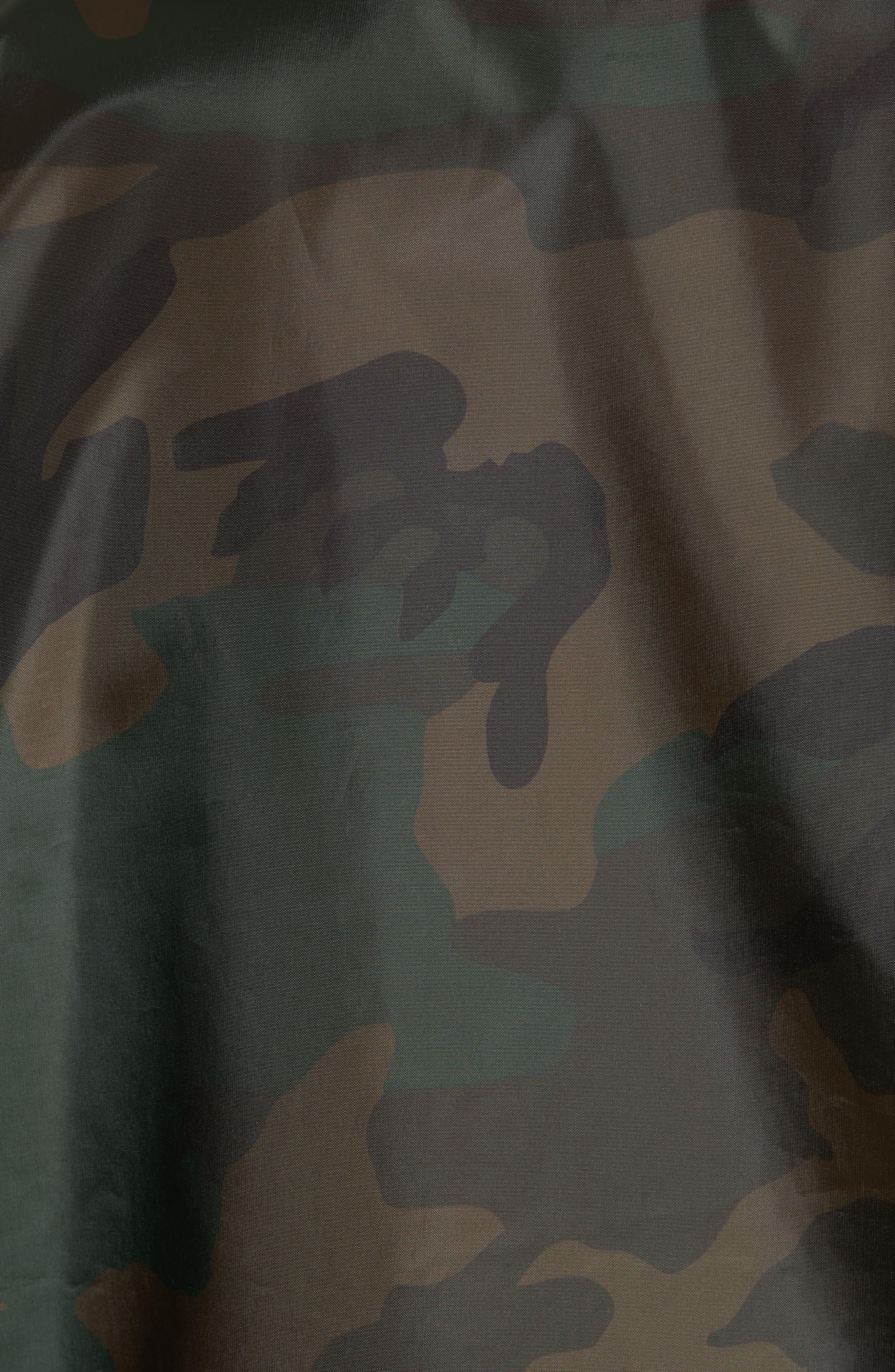 Camo Print Coach Jacket,                             Alternate thumbnail 5, color,                             Camo Combat Green/White