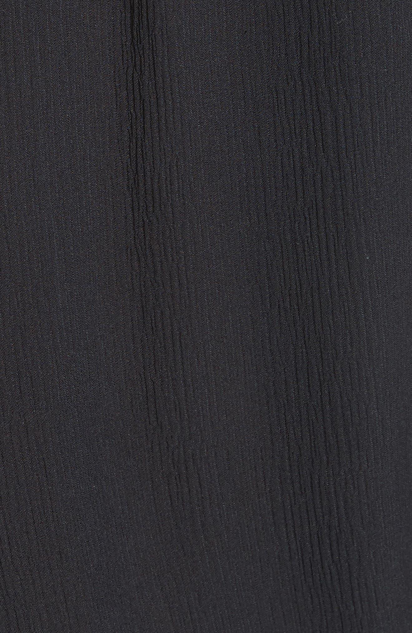 Geromine Blouson Silk Dress,                             Alternate thumbnail 5, color,                             Caviar