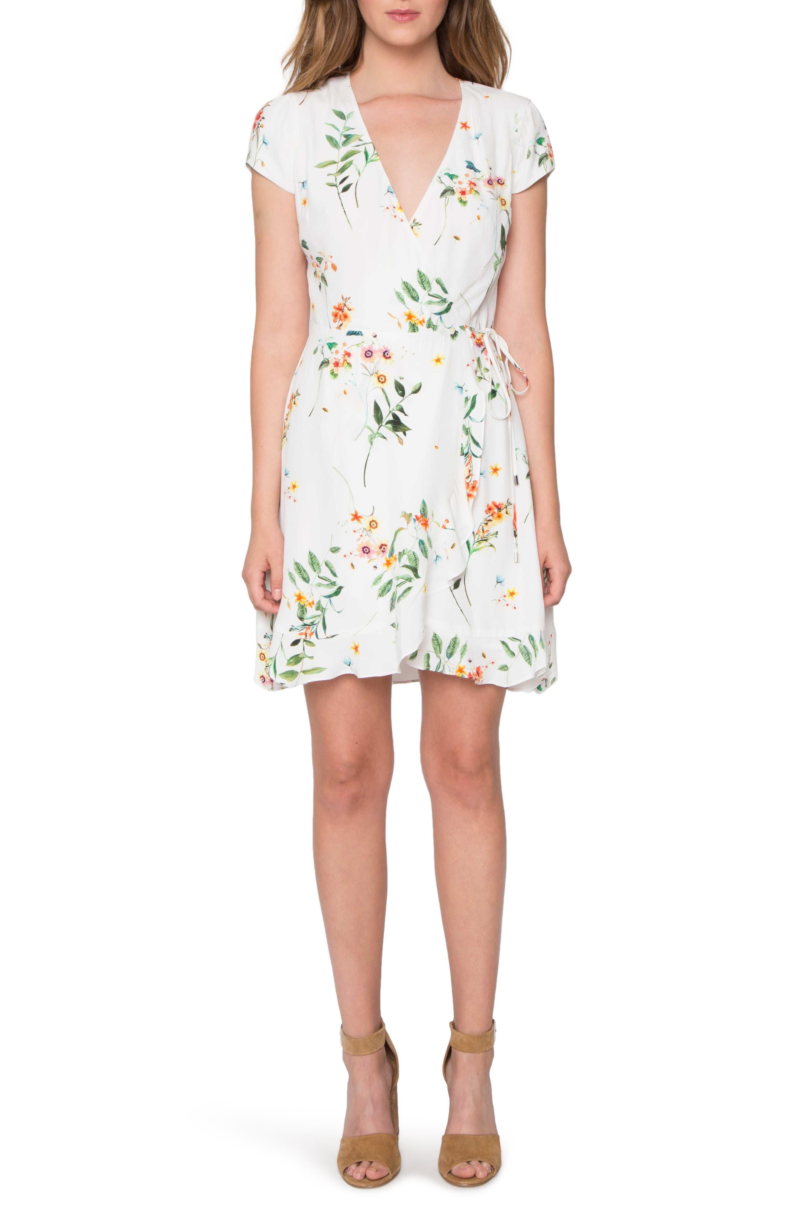 Wrap Dress,                         Main,                         color, Ivory