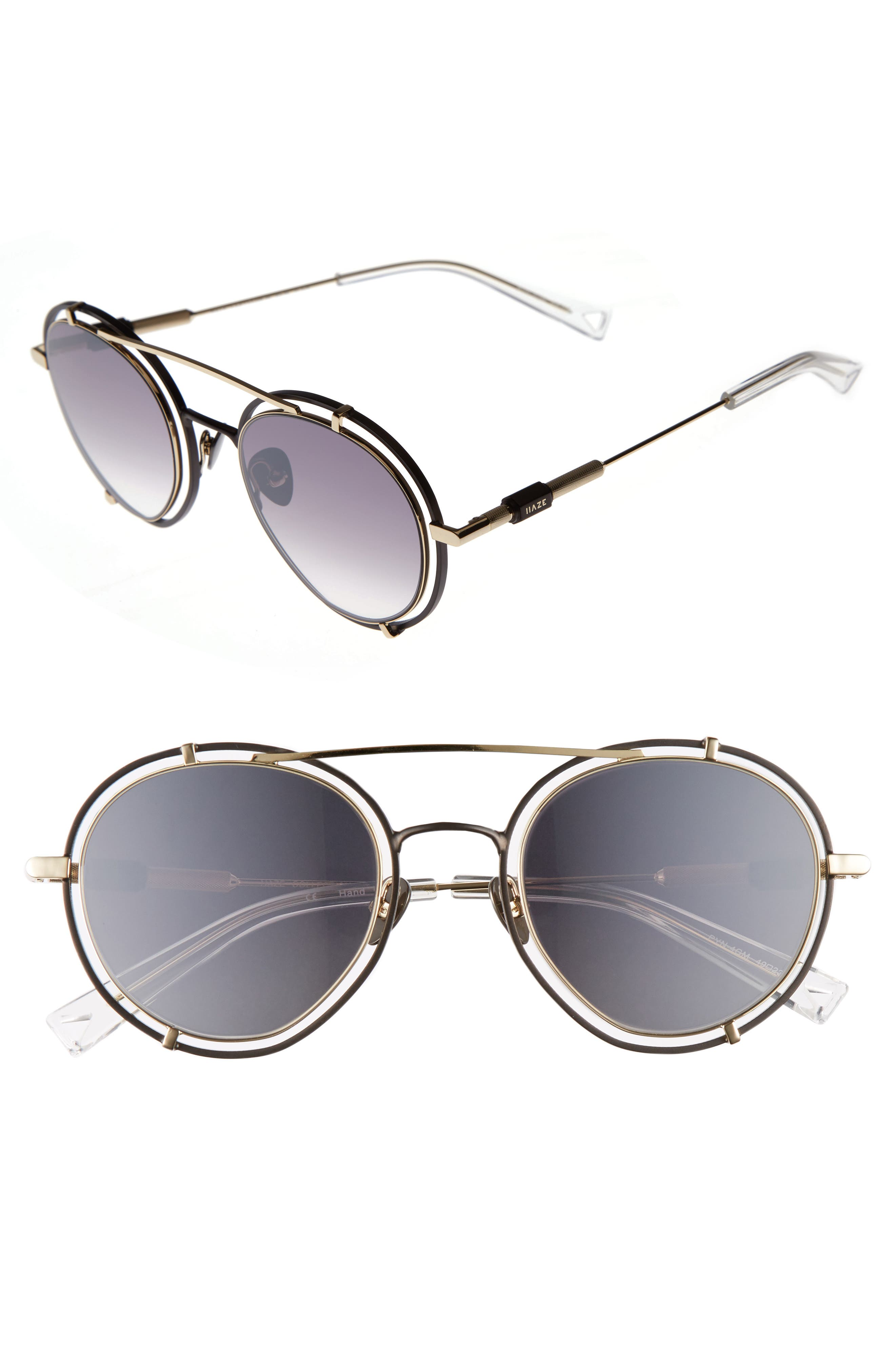 Main Image - HAZE Pyn 55mm Mirrored Sunglasses
