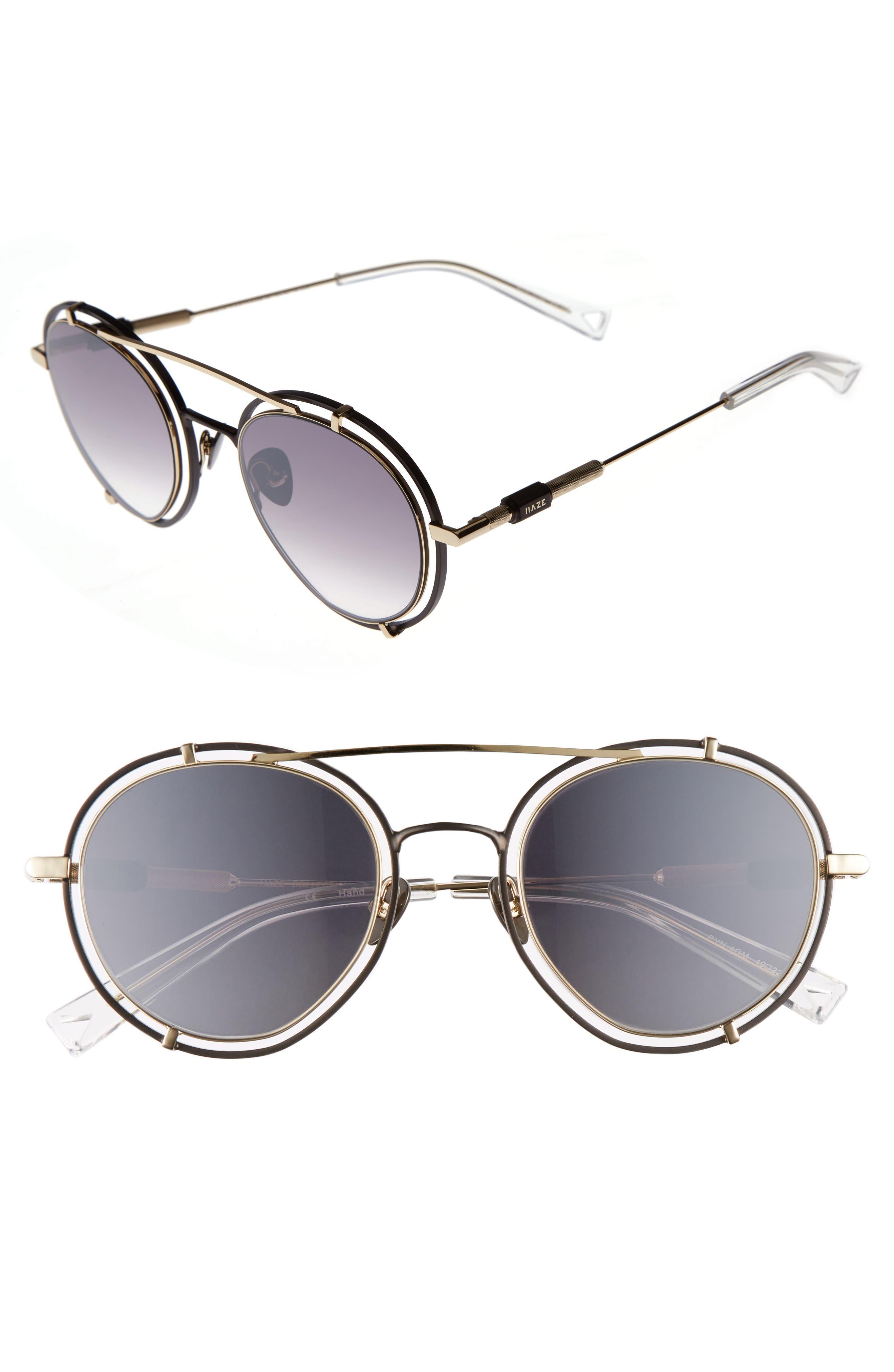 HAZE Pyn 55mm Mirrored Sunglasses