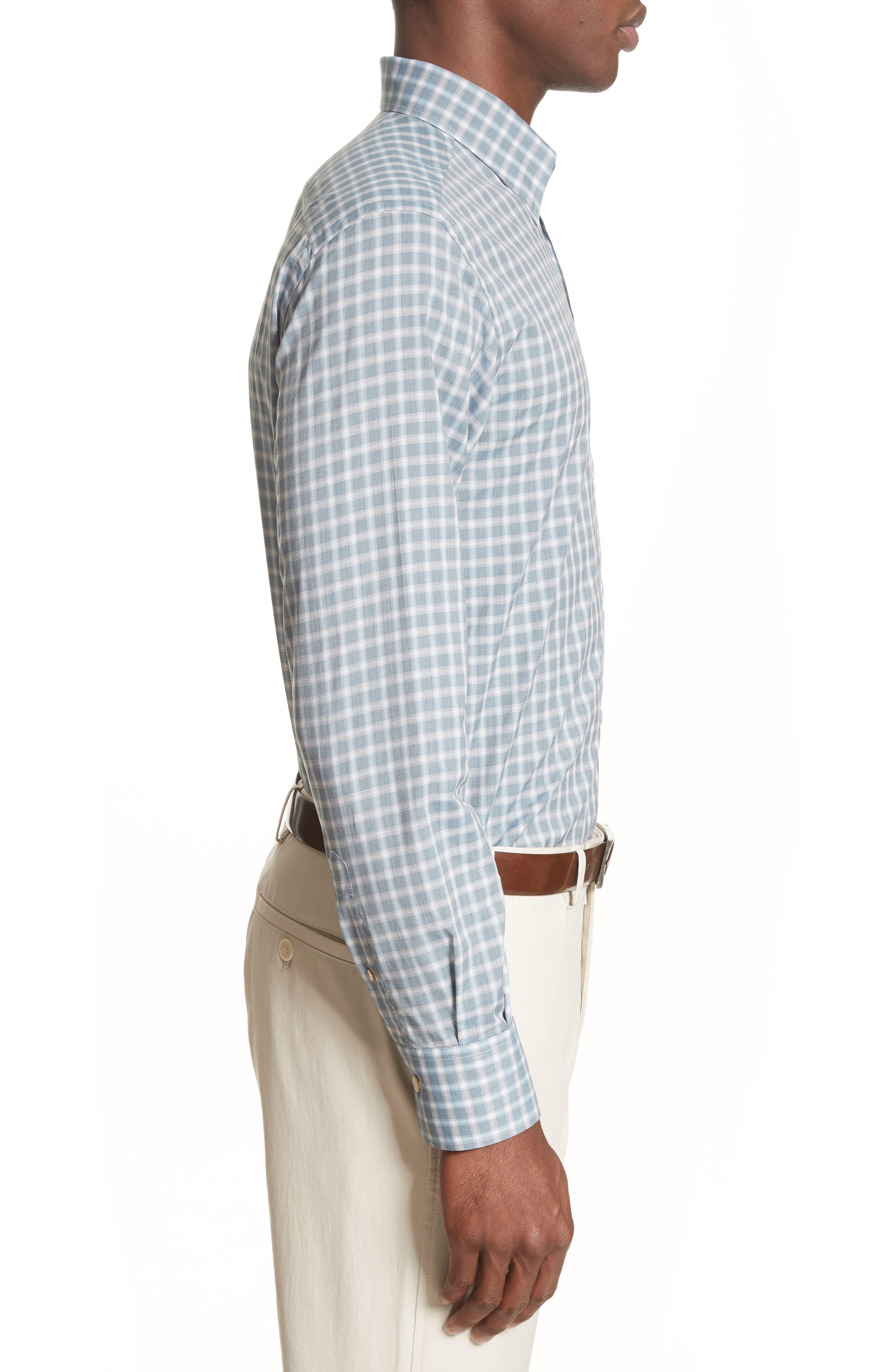 Alternate Image 3  - Canali Gradient Check Sport Shirt