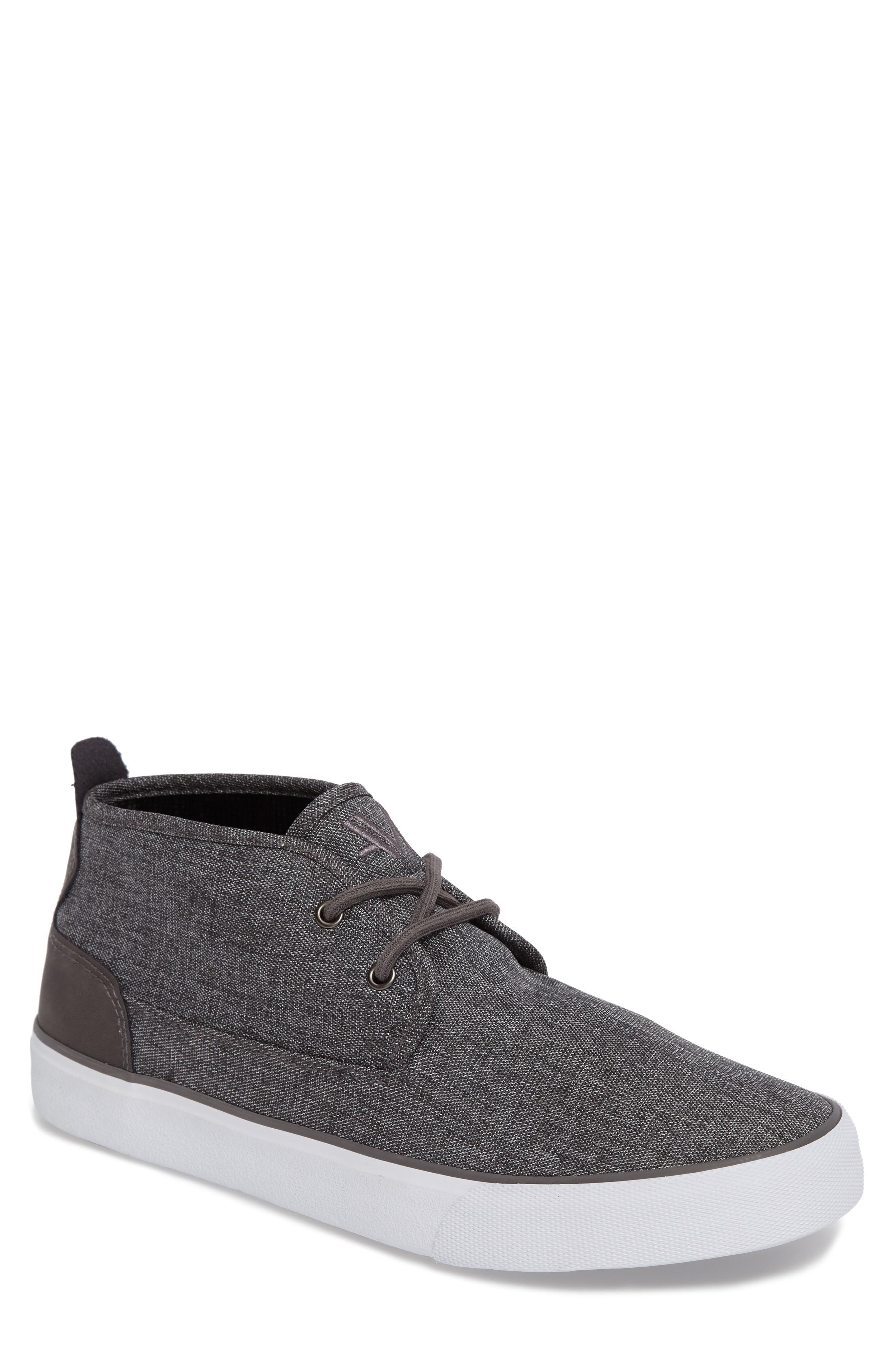 Reade Chukka Sneaker,                         Main,                         color, Charcoal/Dk Charcoal/White