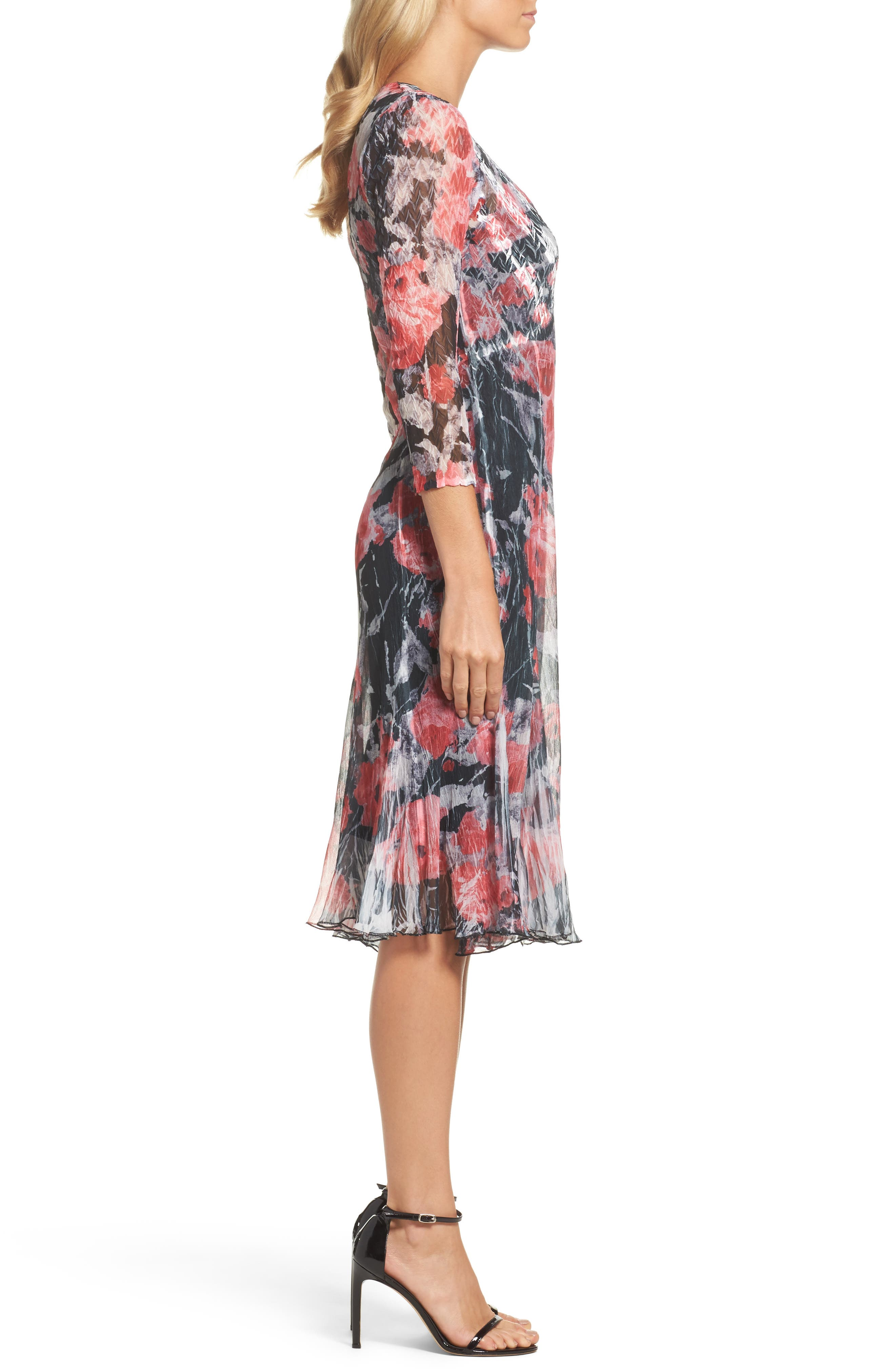 A-Line Dress,                             Alternate thumbnail 3, color,                             Strawberry Fields