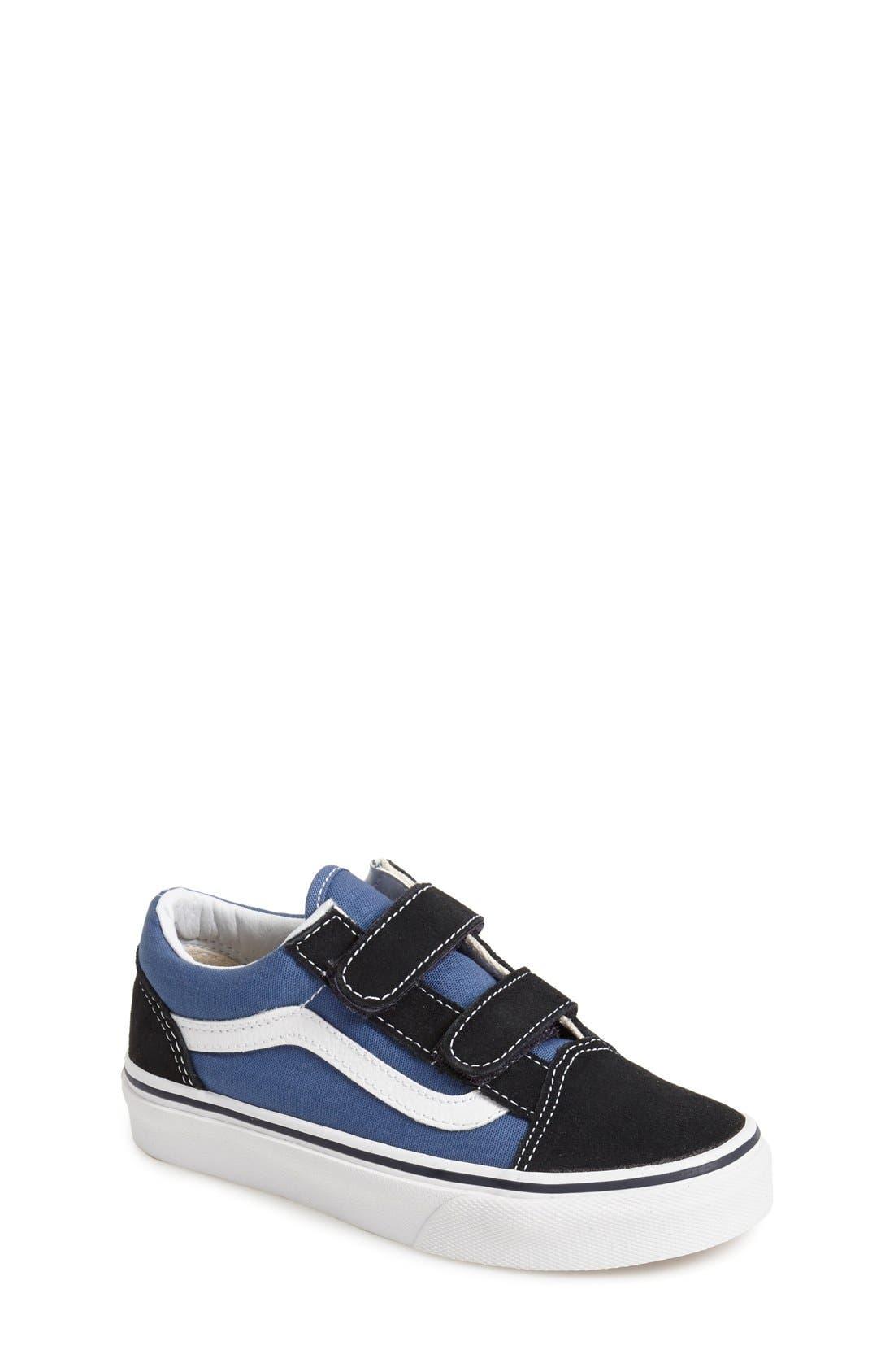 'Old Skool V' Sneaker,                             Main thumbnail 1, color,                             Navy/ True White