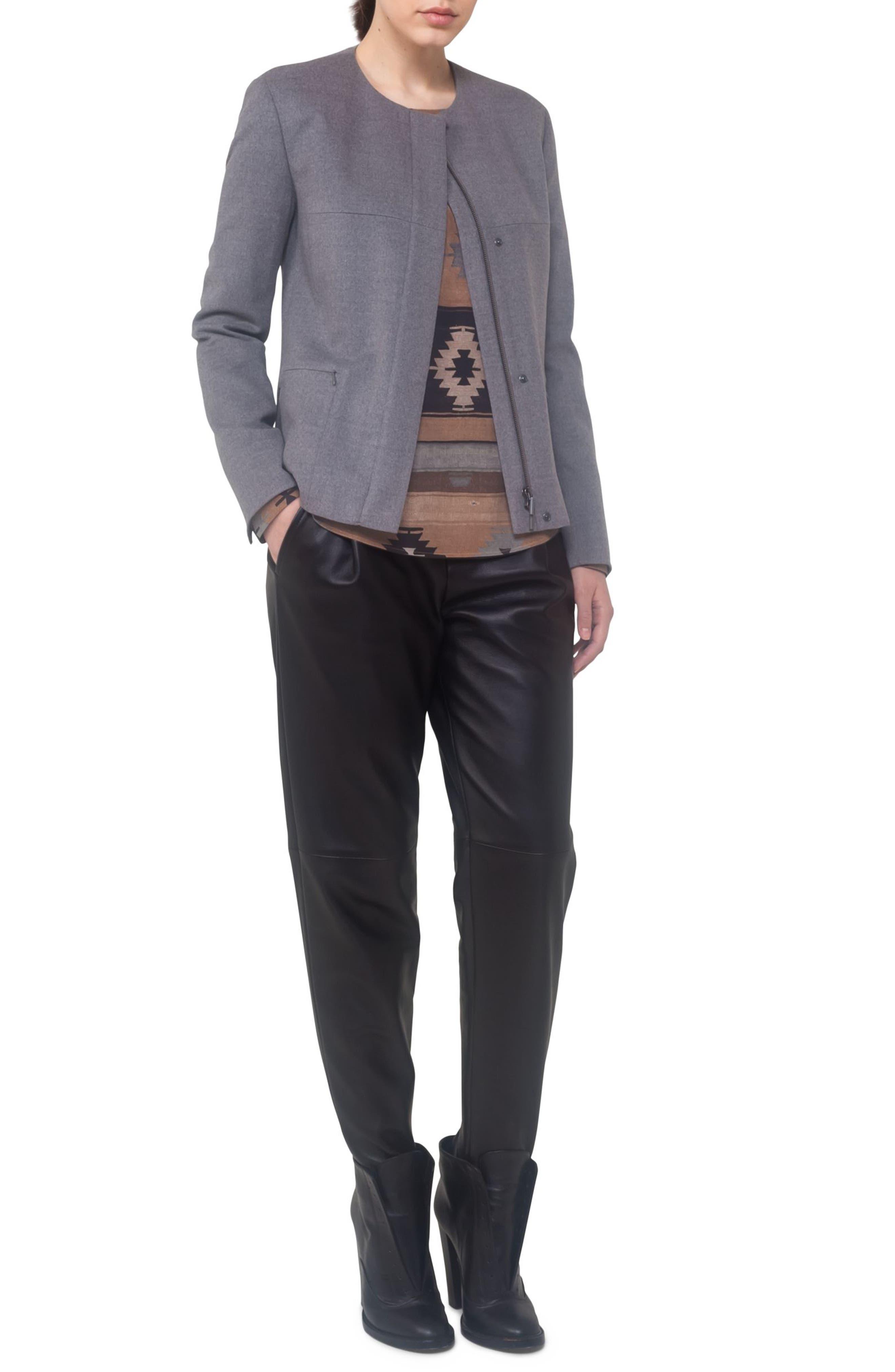 Alternate Image 3  - Akris punto Wool A-Line Jacket