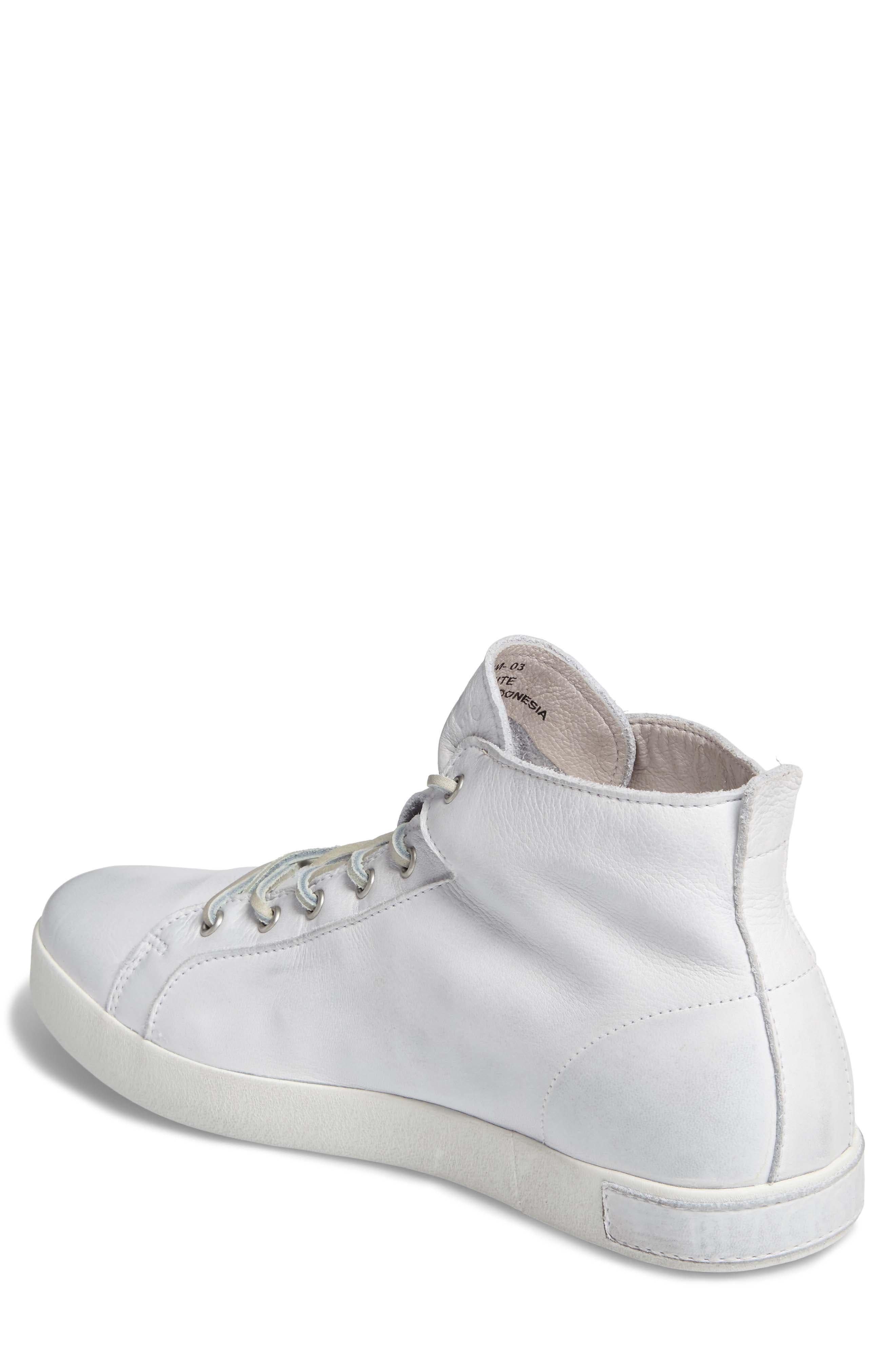 'JM03' Sneaker,                             Alternate thumbnail 2, color,                             White Leather