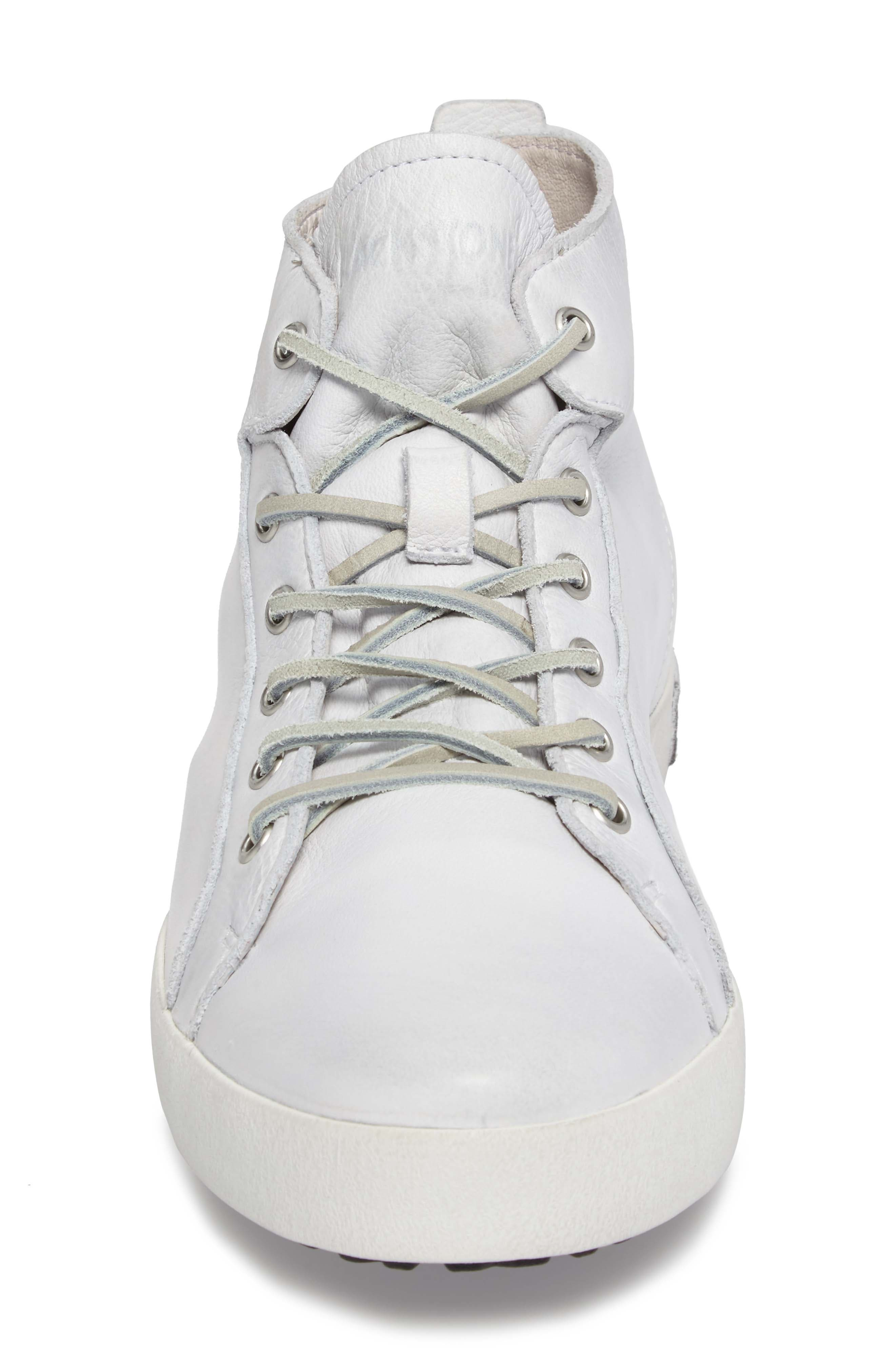 'JM03' Sneaker,                             Alternate thumbnail 4, color,                             White Leather