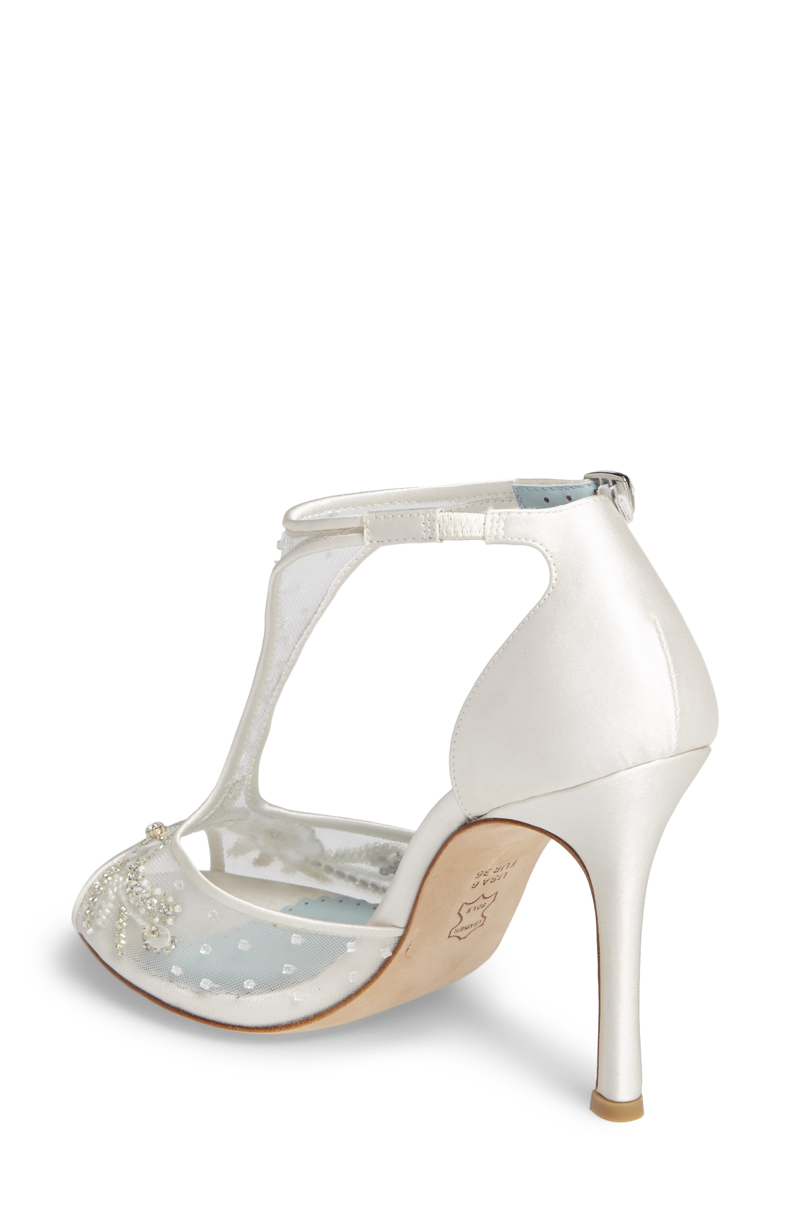 Paloma T-Strap Pump,                             Alternate thumbnail 2, color,                             Ivory Fabric