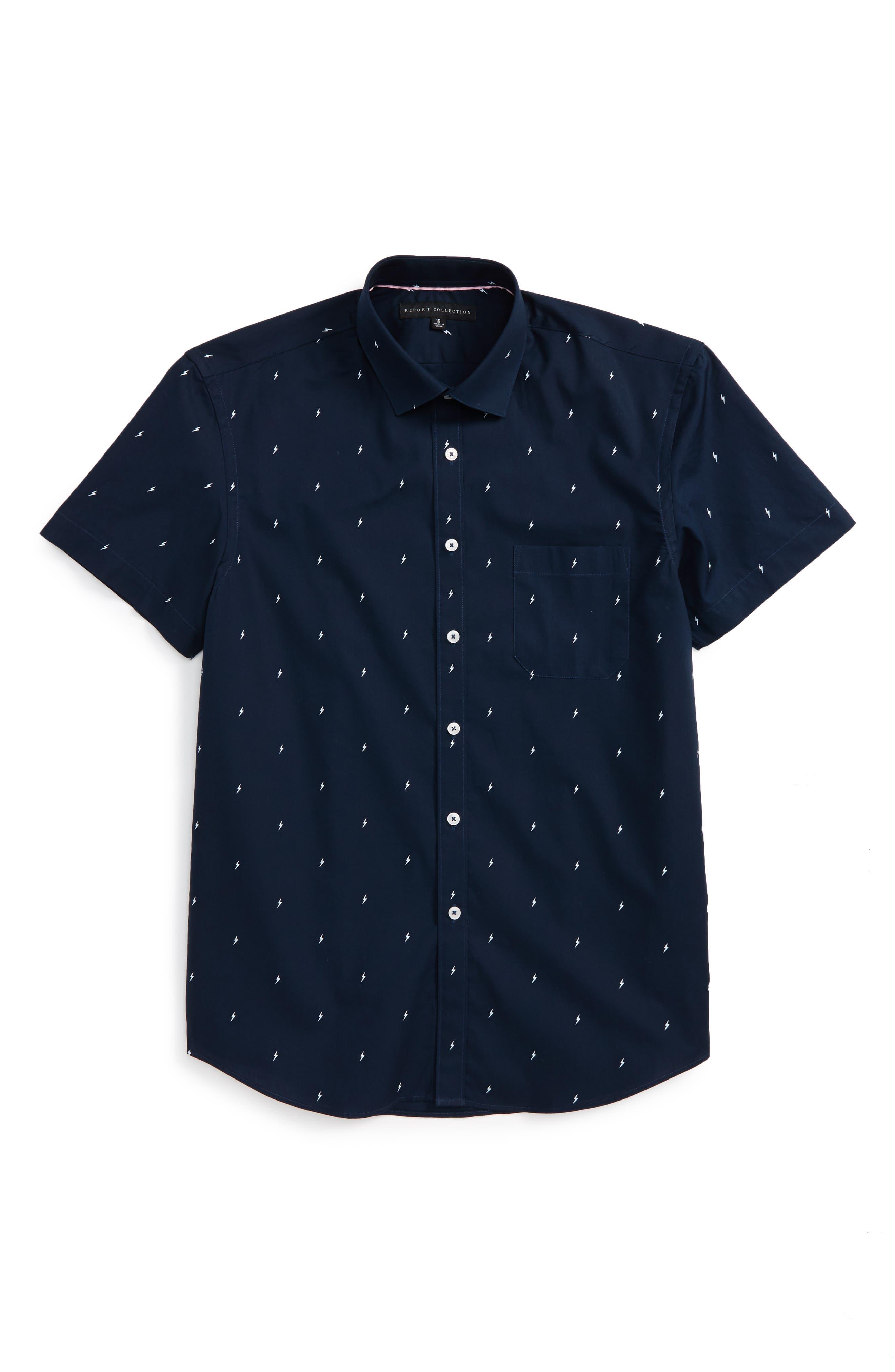 Report Collection Lightning Bolt Dress Shirt