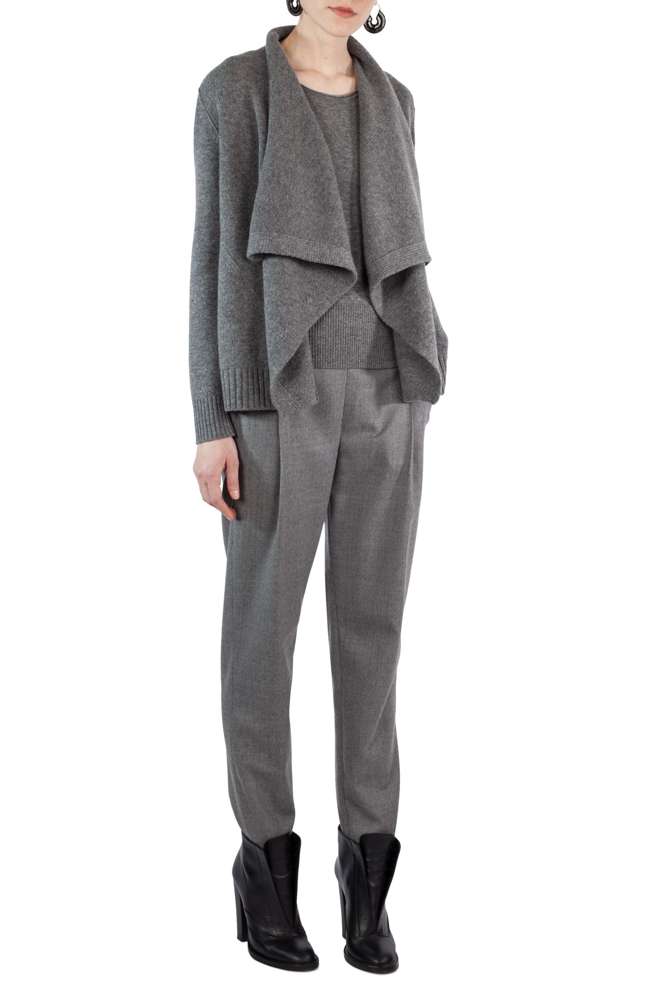 Fiola Wool Slouch Pants,                             Alternate thumbnail 5, color,                             Stone