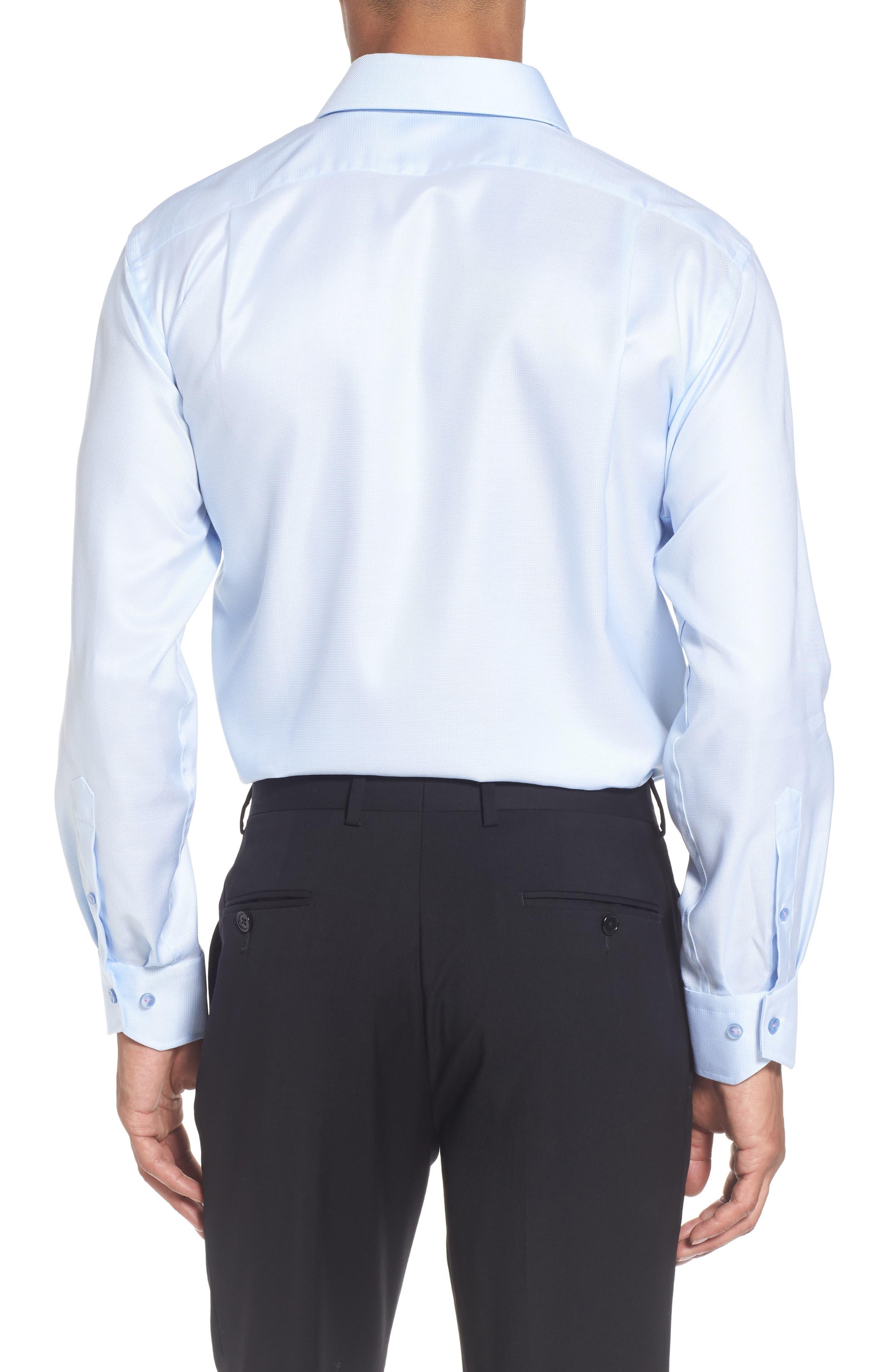 Alternate Image 3  - Lorenzo Uomo Trim Fit Houndstooth Dress Shirt