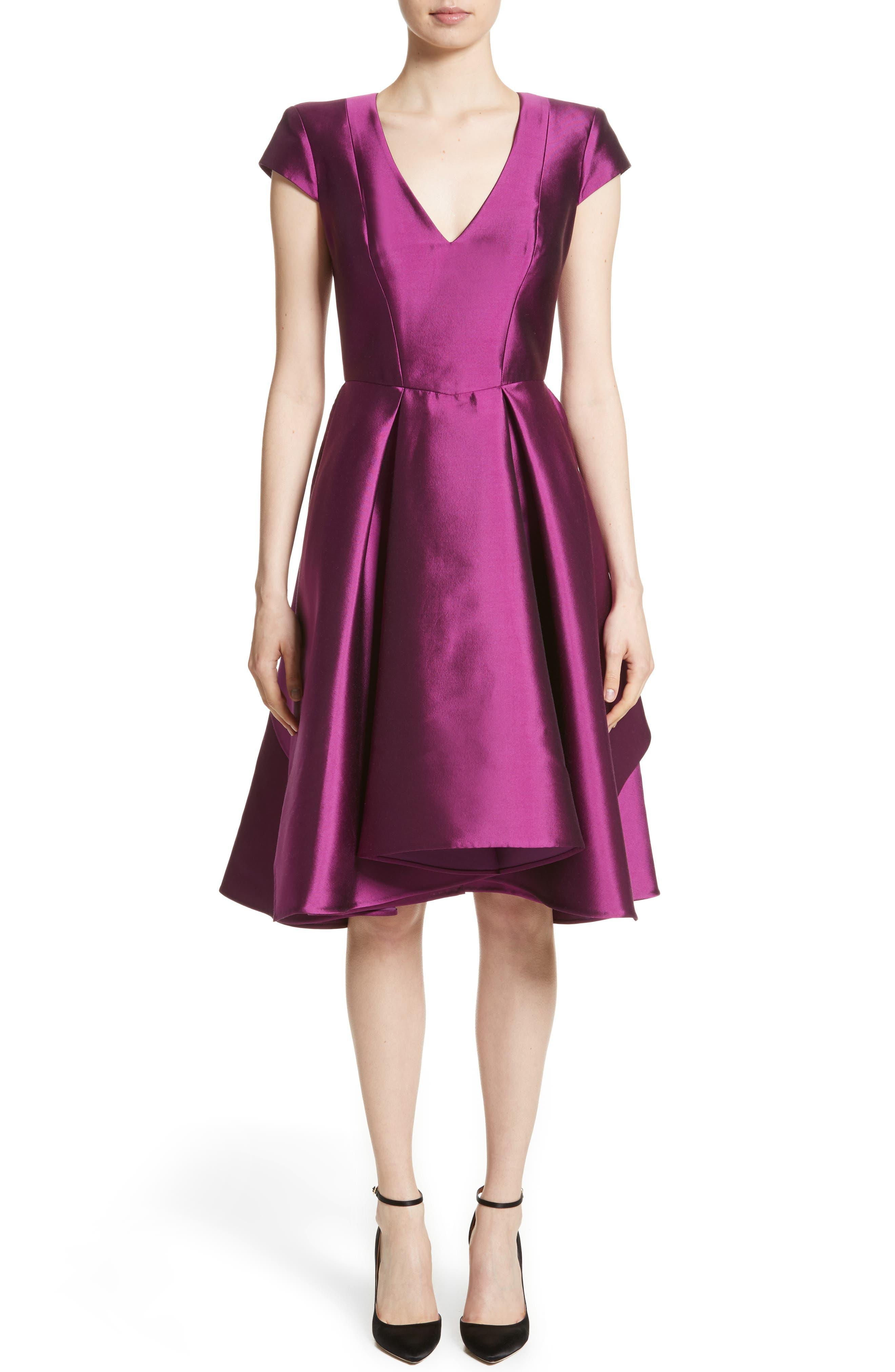 Rubin Singer Fit & Flare Faille Dress