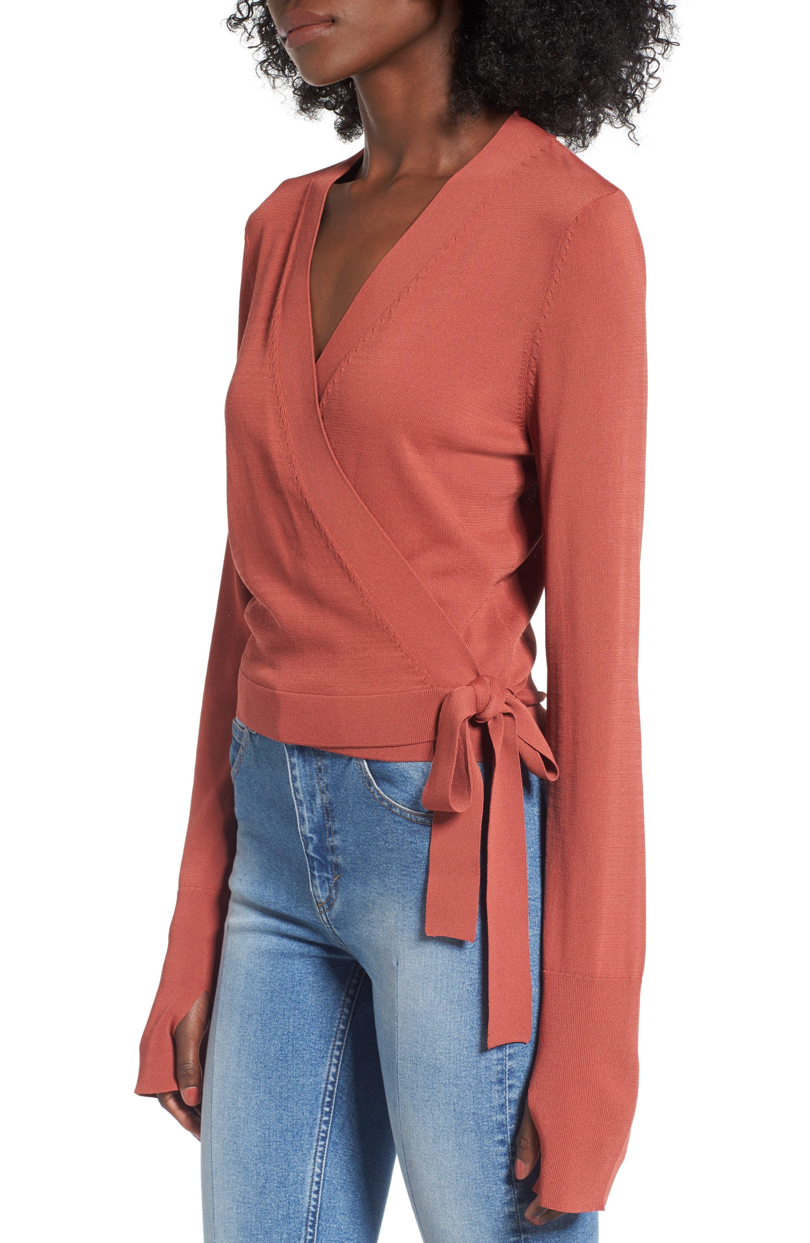 Alternate Image 3  - Leith Ballet Wrap Sweater