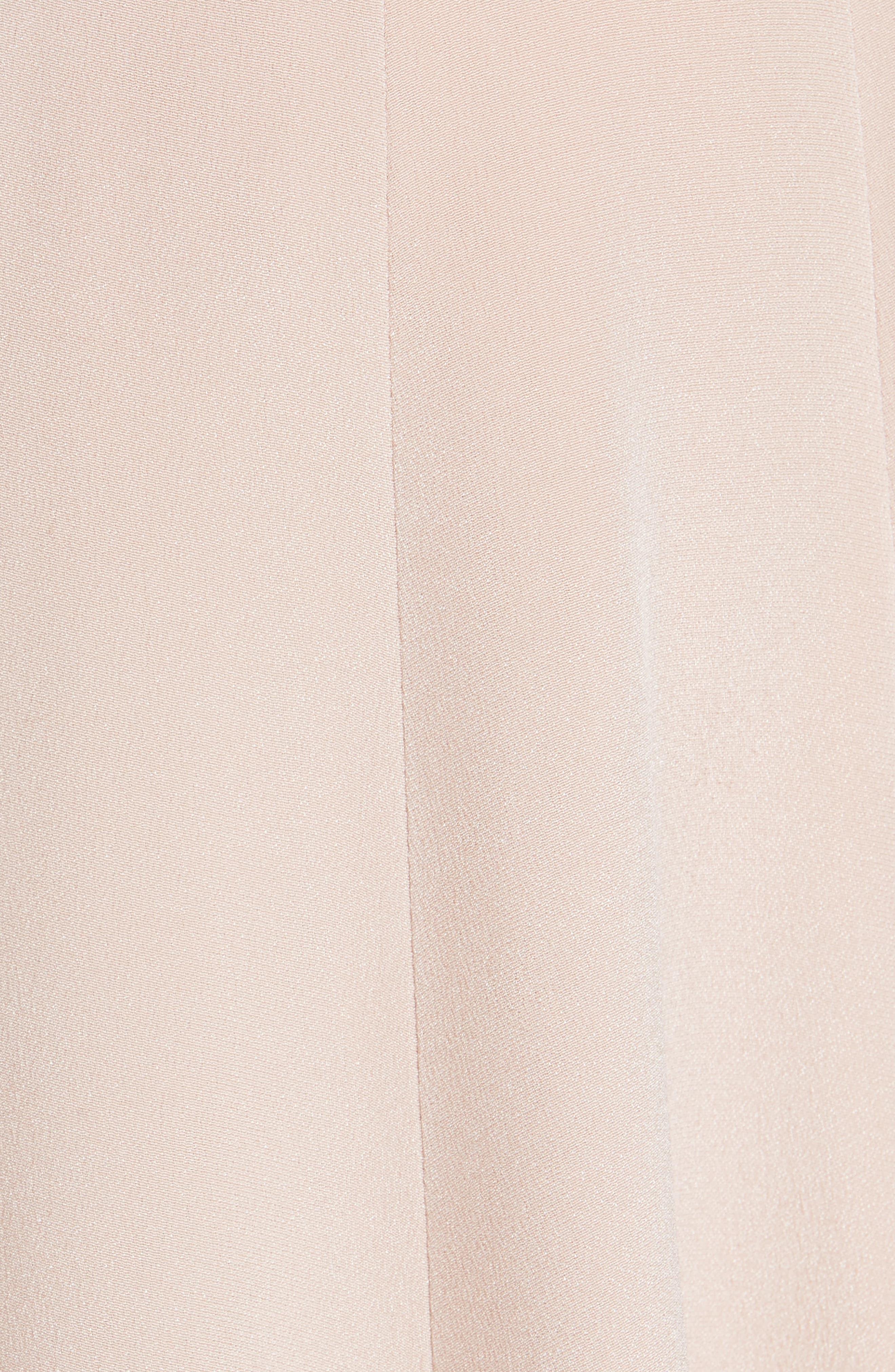 Alternate Image 5  - Carolina Herrera Sequin Front A-Line Silk Gown