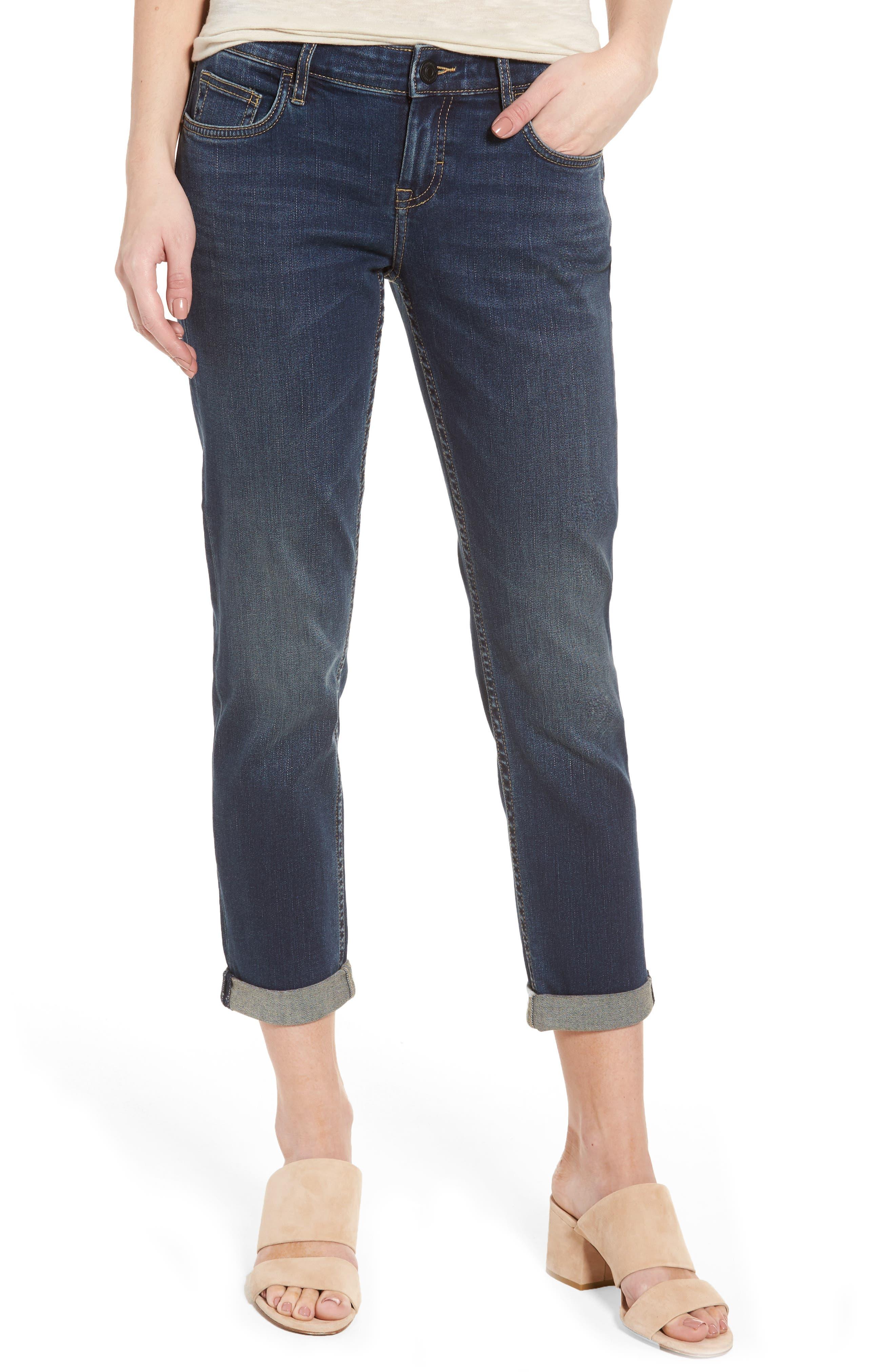 Tema Slim Boyfriend Jeans,                             Main thumbnail 1, color,                             Dark Beach Wash