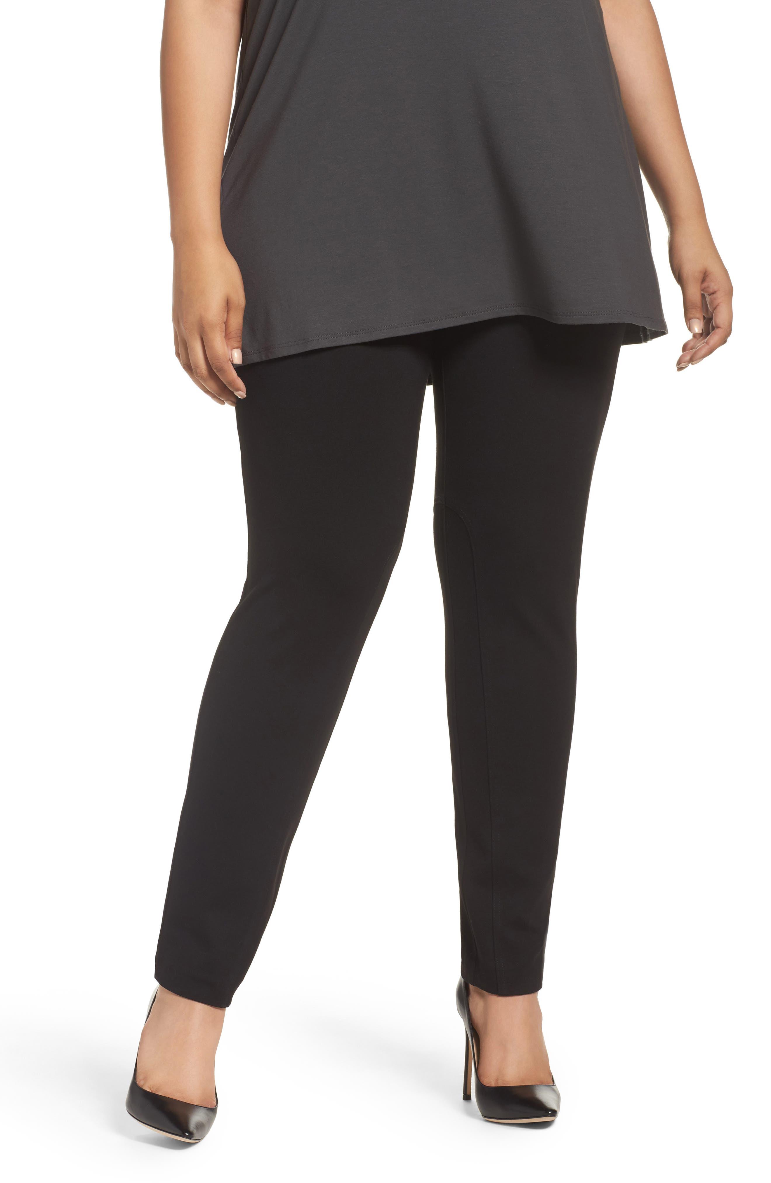 Alternate Image 1 Selected - Foxcroft Naomi Ponte Jodphur Pants (Plus Size)
