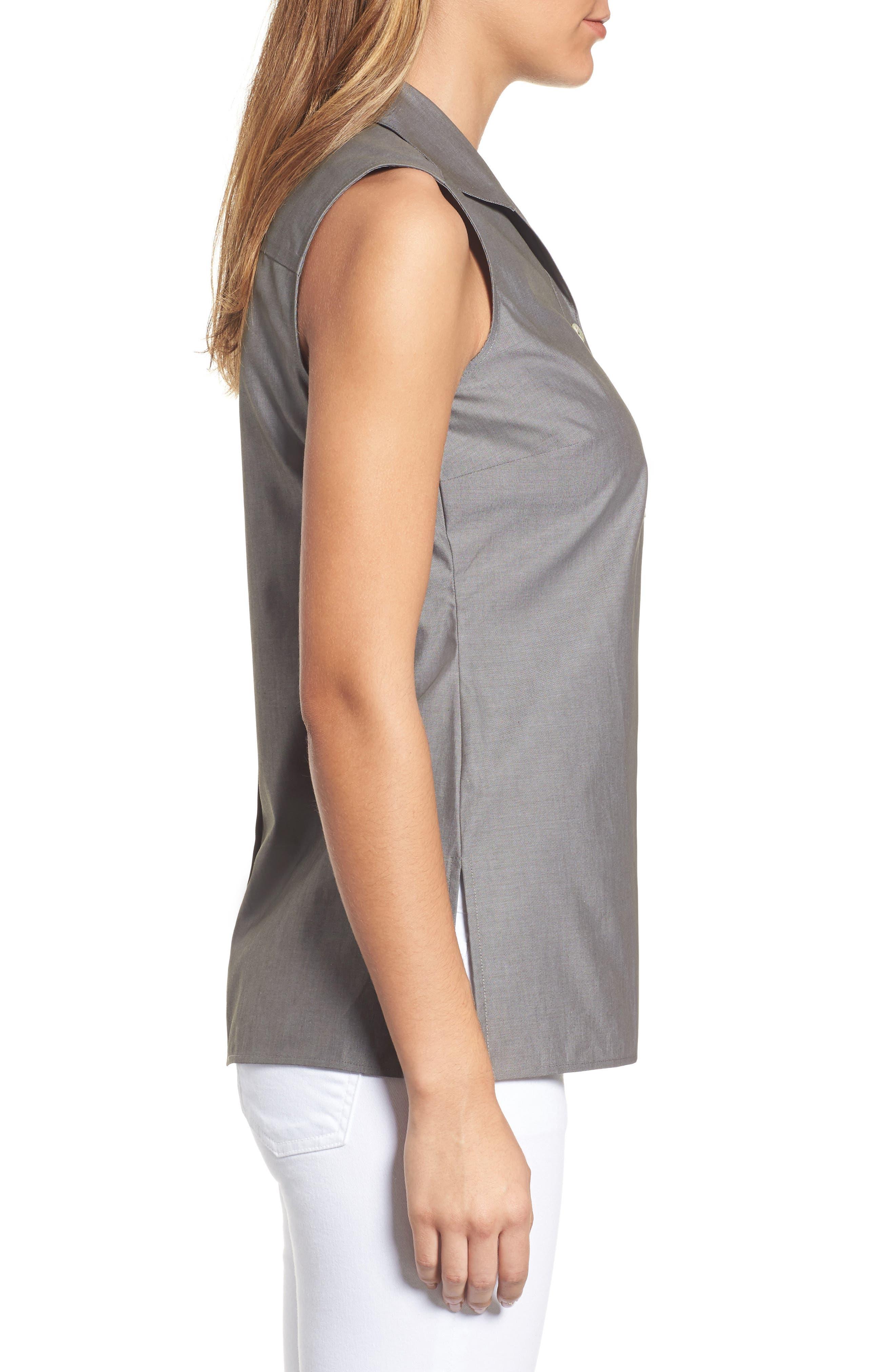 Alternate Image 3  - Foxcroft Dani Button Back Shirt (Regular & Petite)