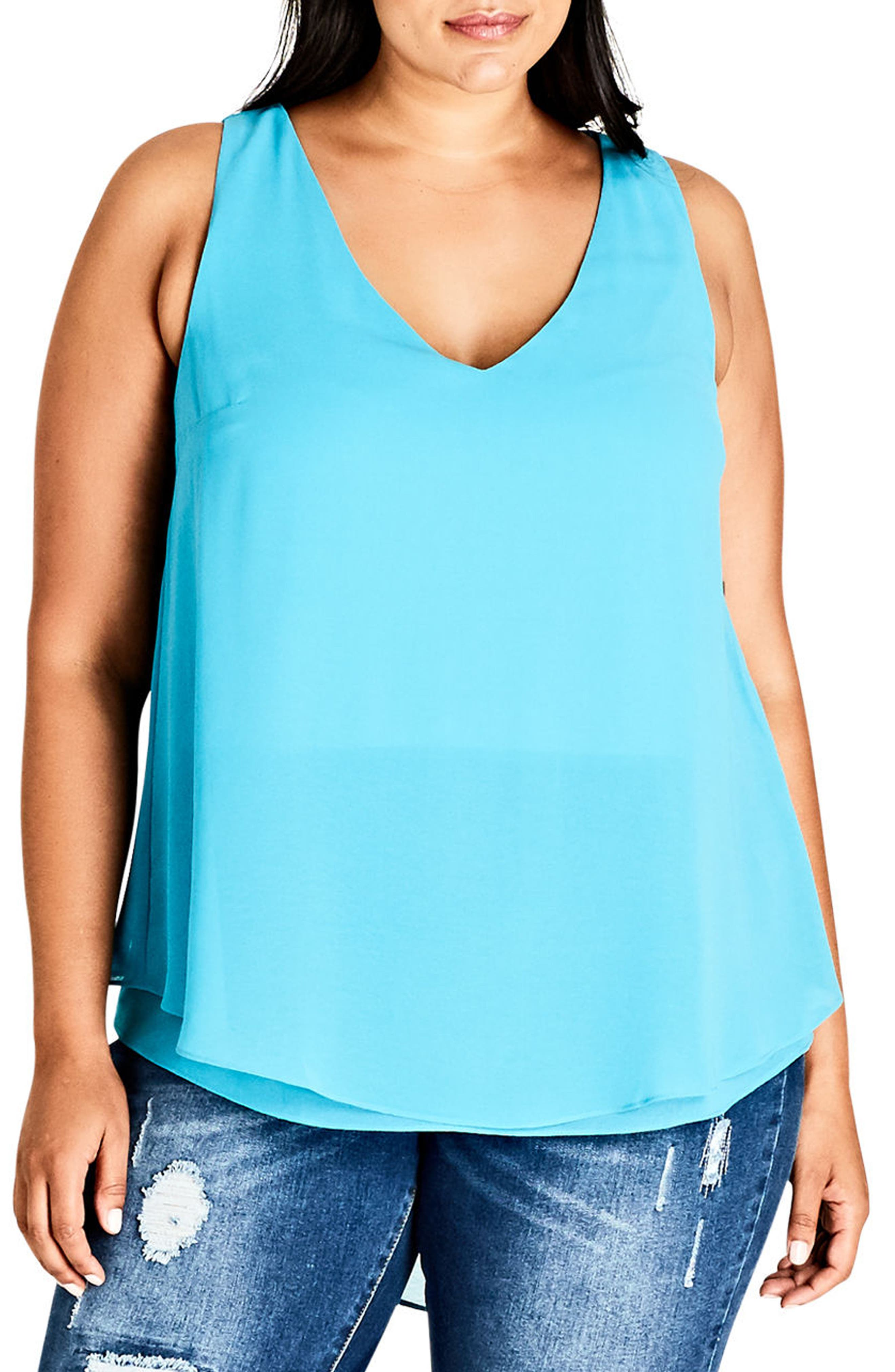 Main Image - City Chic Date Night Top (Plus Size)