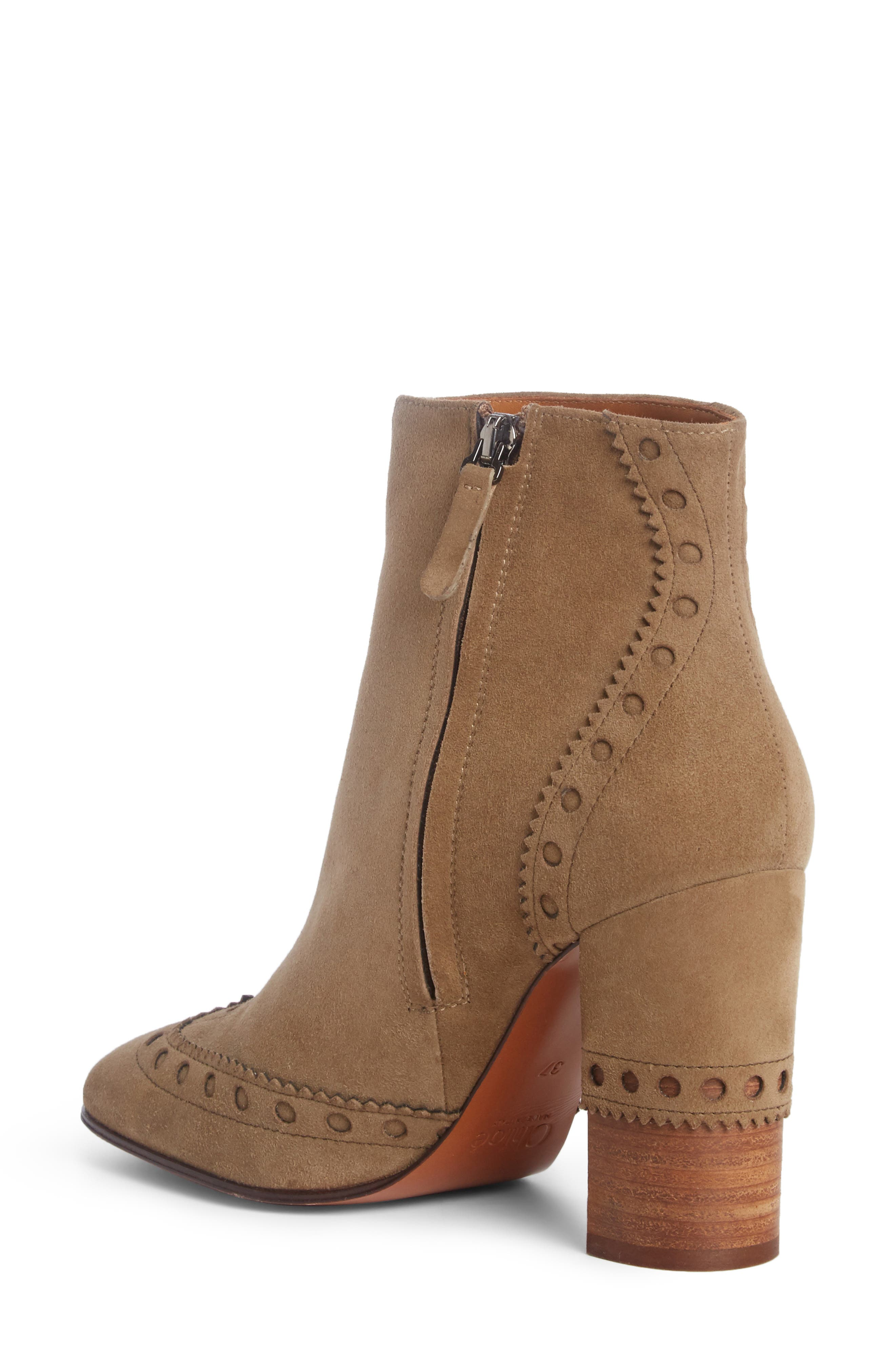 Perry Brogued Wingtip Bootie,                             Alternate thumbnail 2, color,                             Maple Brown