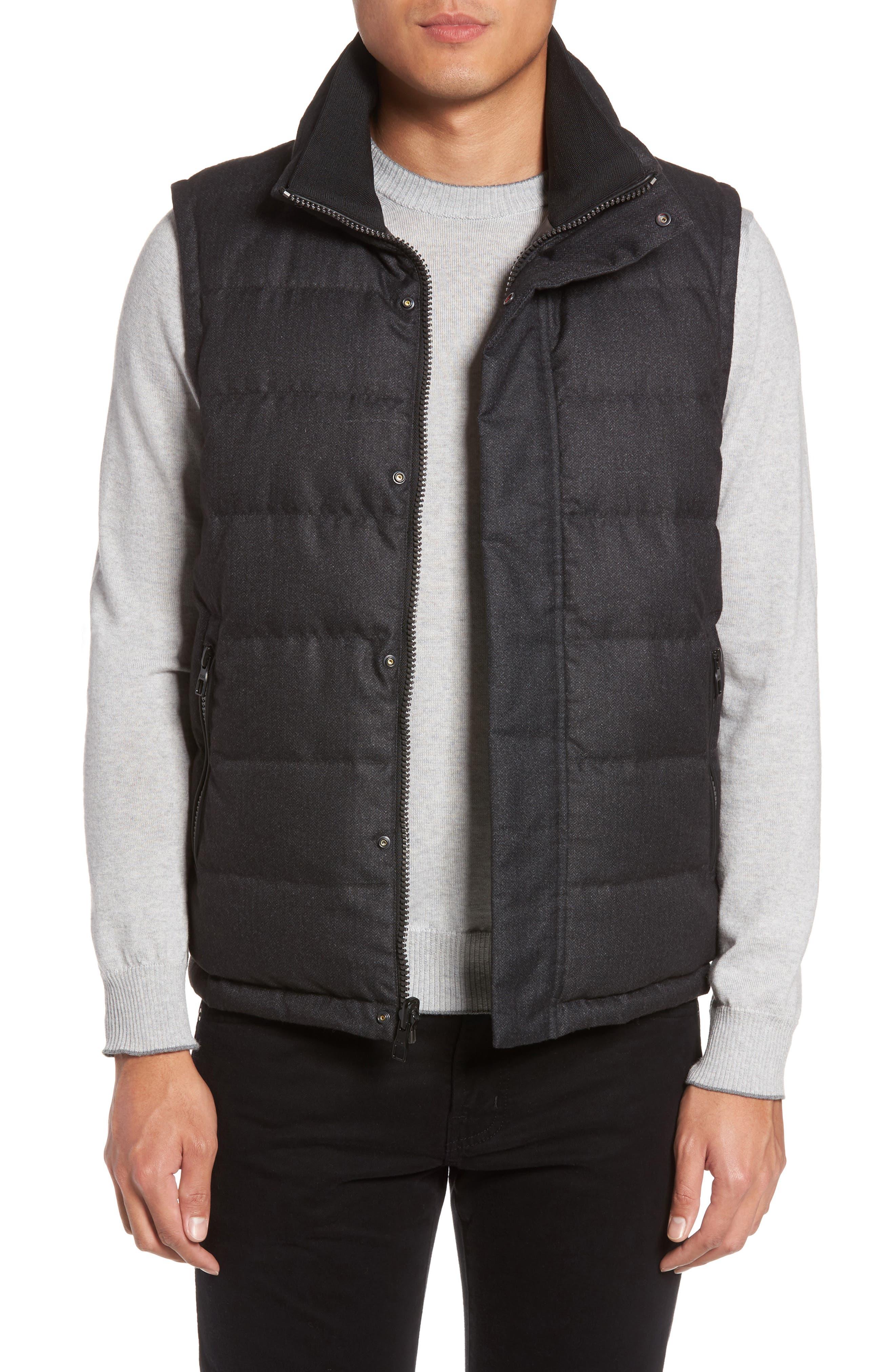 Heritage Reversible Down Vest,                         Main,                         color, Gunmetal - Grey