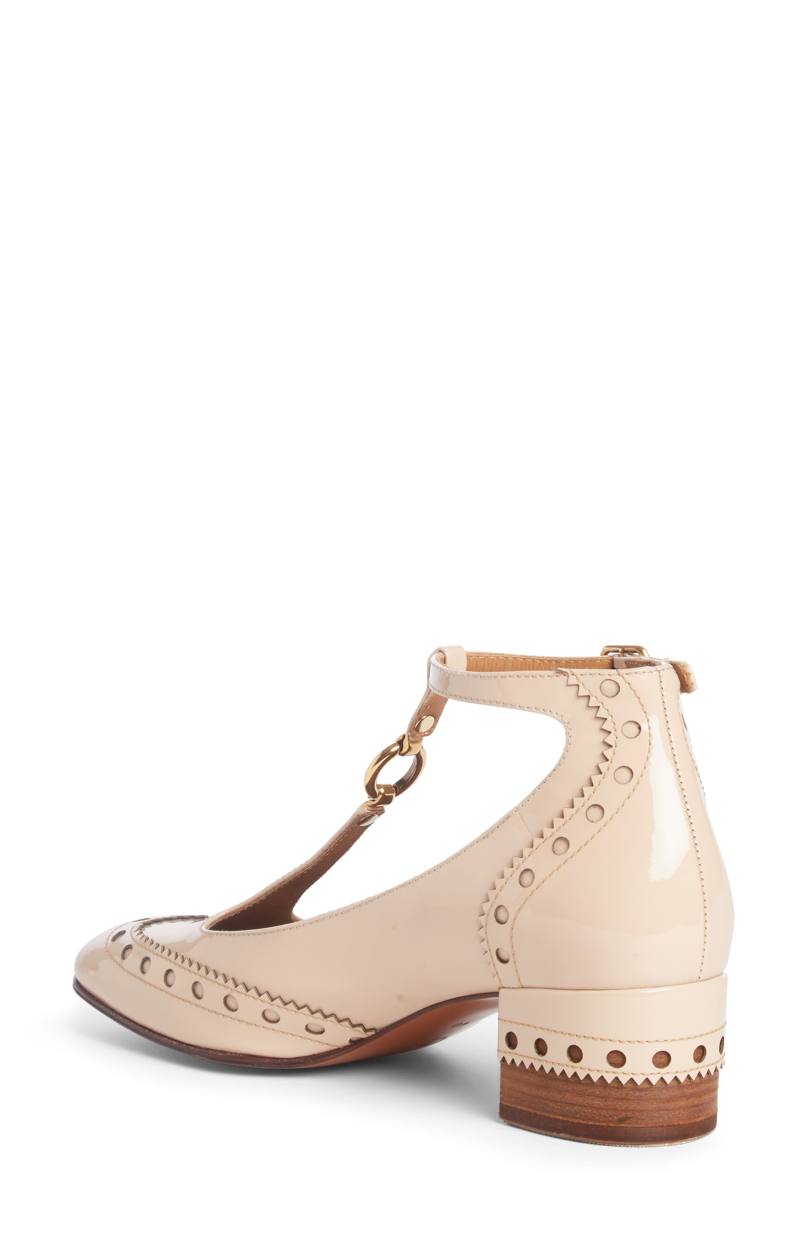 Alternate Image 2  - Chloé Perry Wingtip T-Strap Pump (Women)