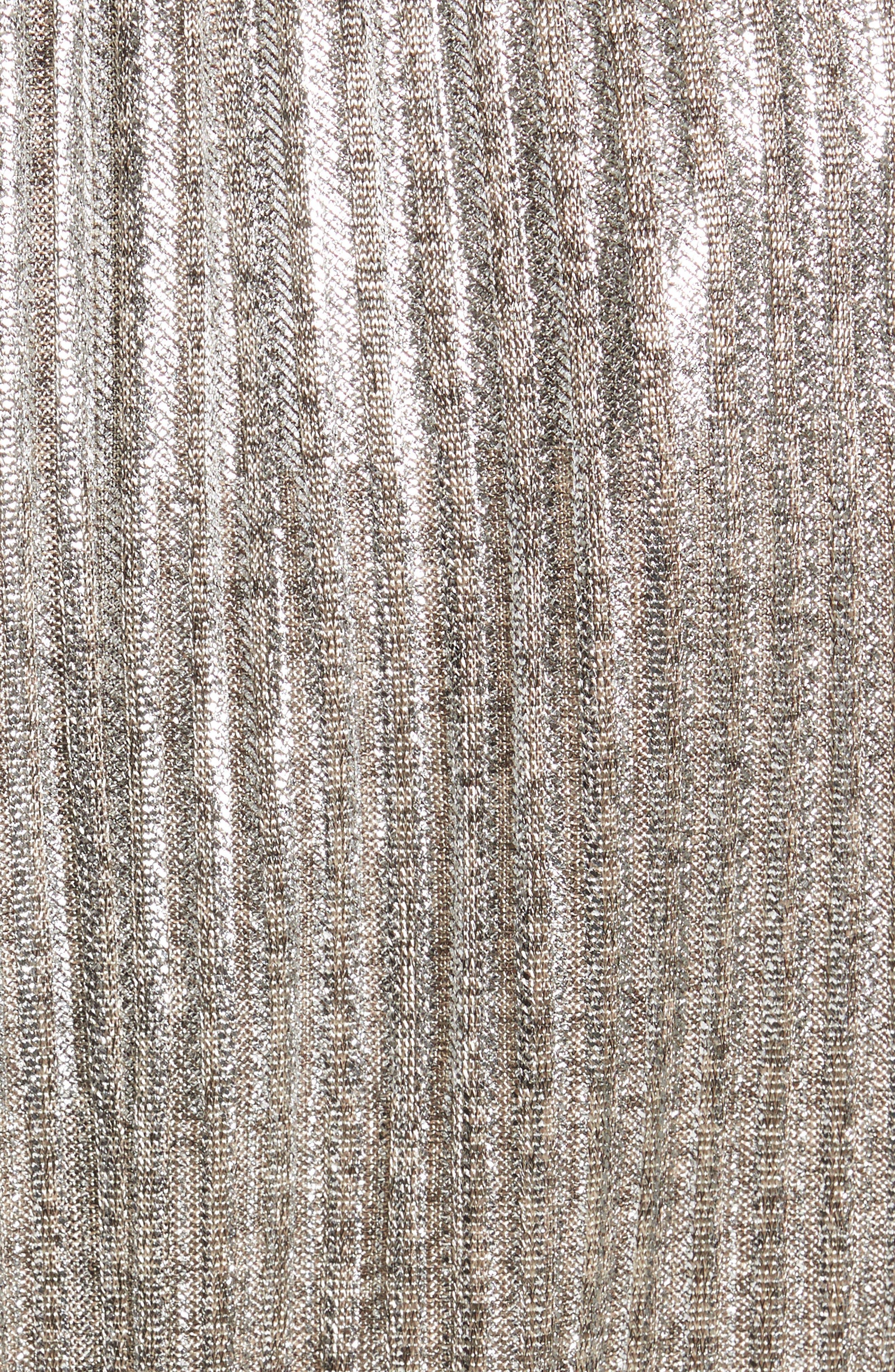 Katina Metallic Wrap Dress,                             Alternate thumbnail 5, color,                             Gold