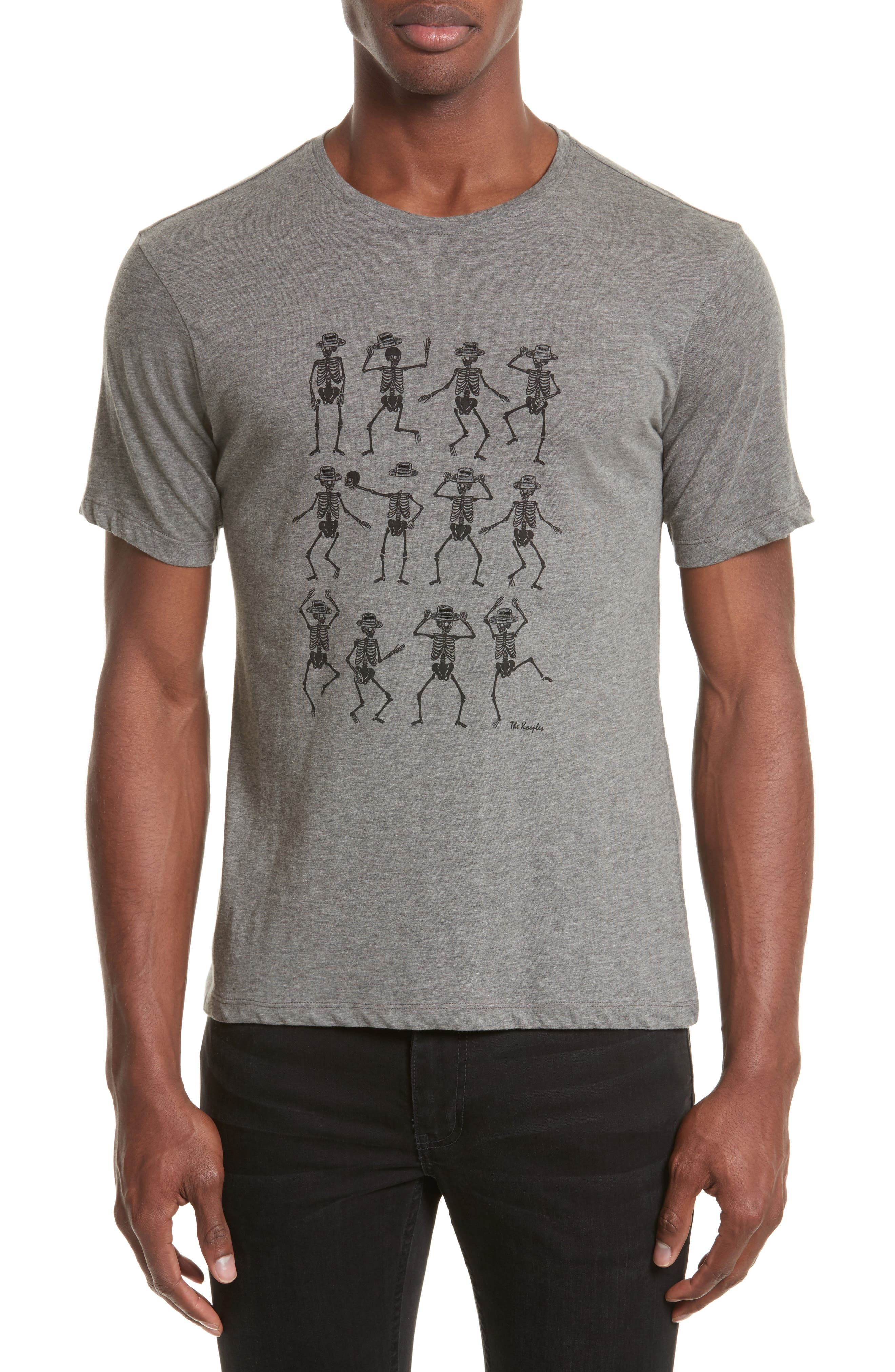 Dancing Skeleton Graphic T-Shirt,                         Main,                         color, Gry23