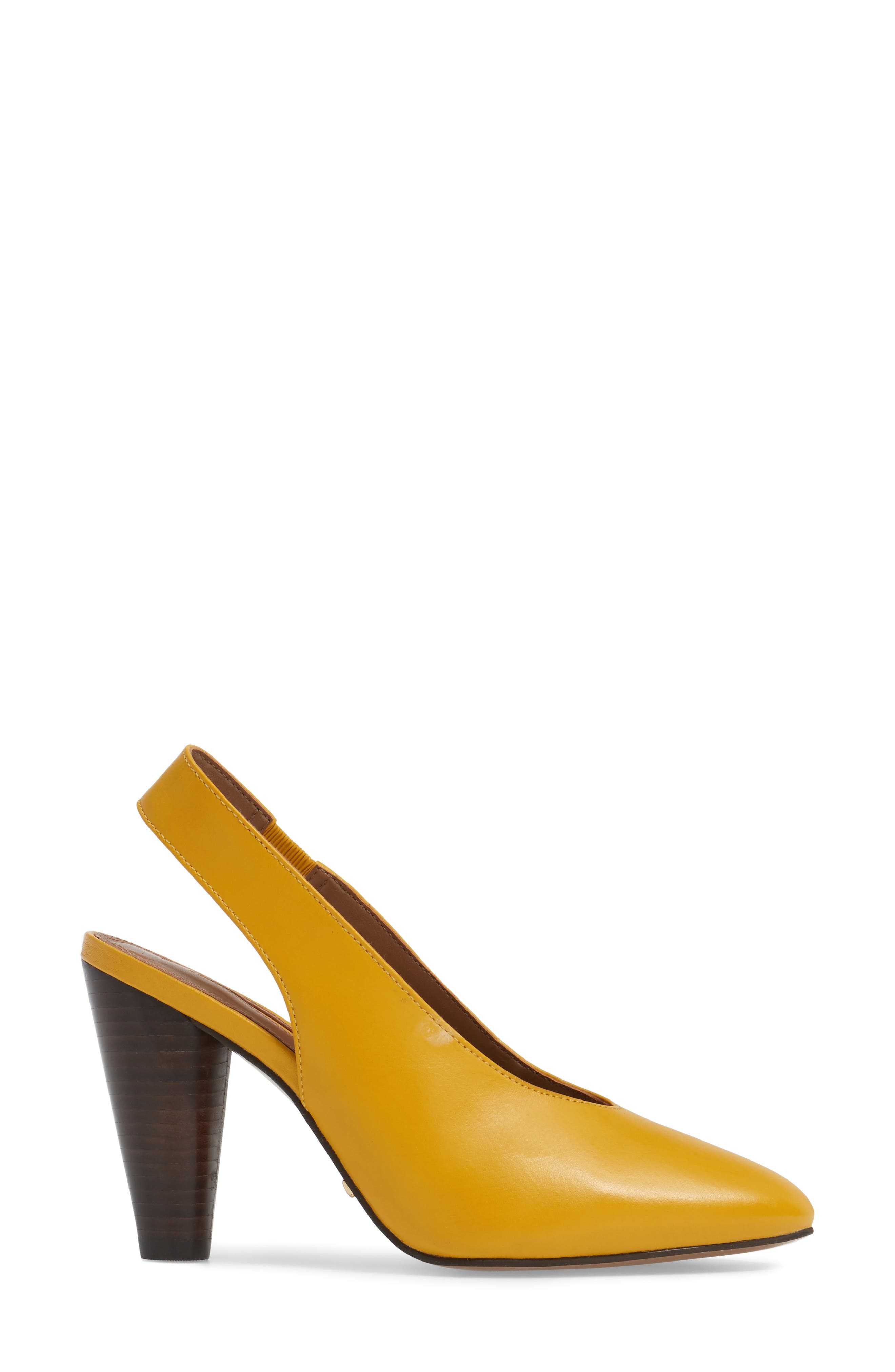Gabriel Slingback Pump,                             Alternate thumbnail 3, color,                             Yellow