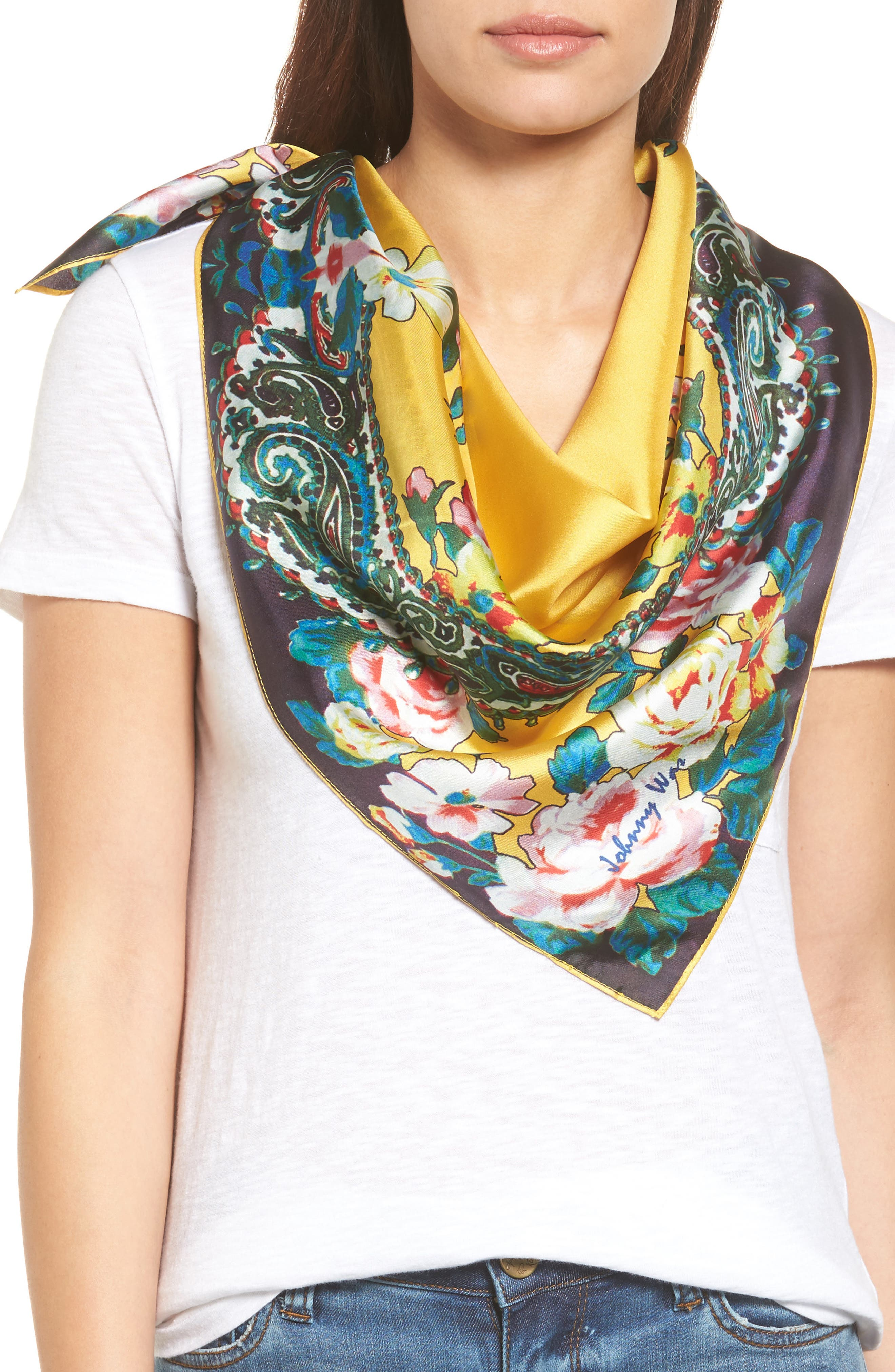 Main Image - Johnny Was Anjali Silk Scarf