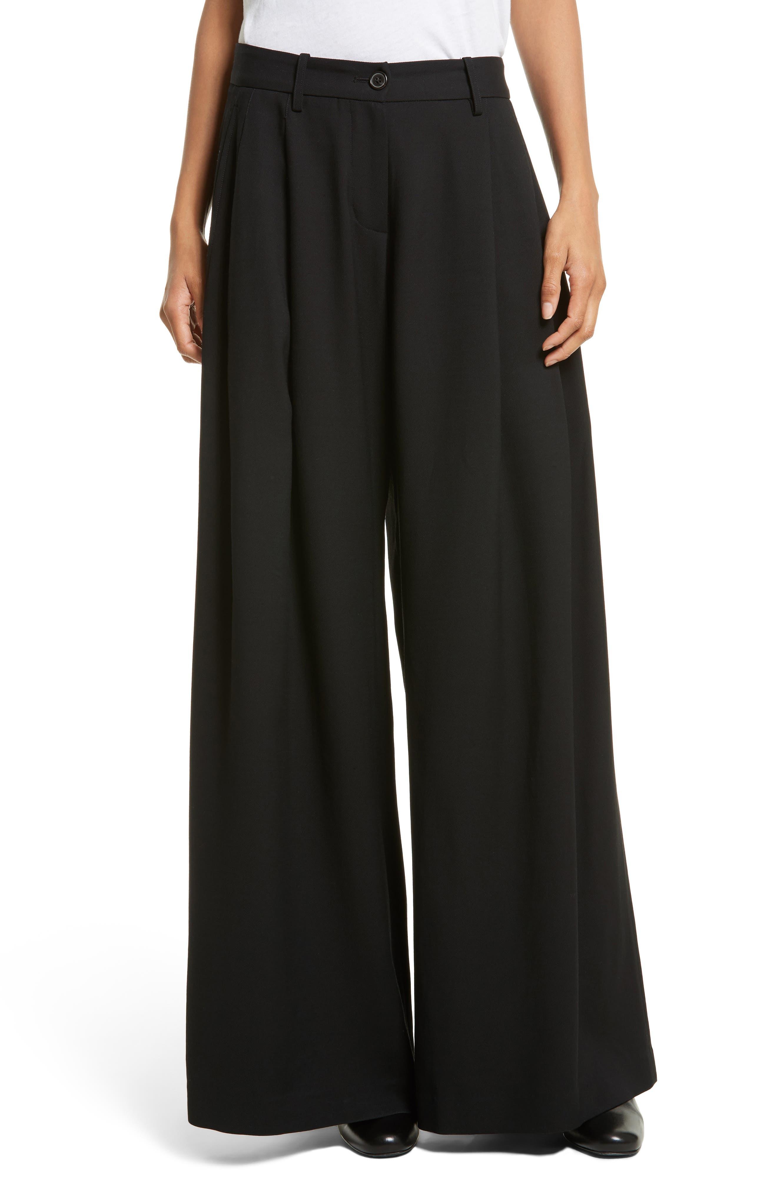 Inez Wide Leg Pants,                         Main,                         color, Black