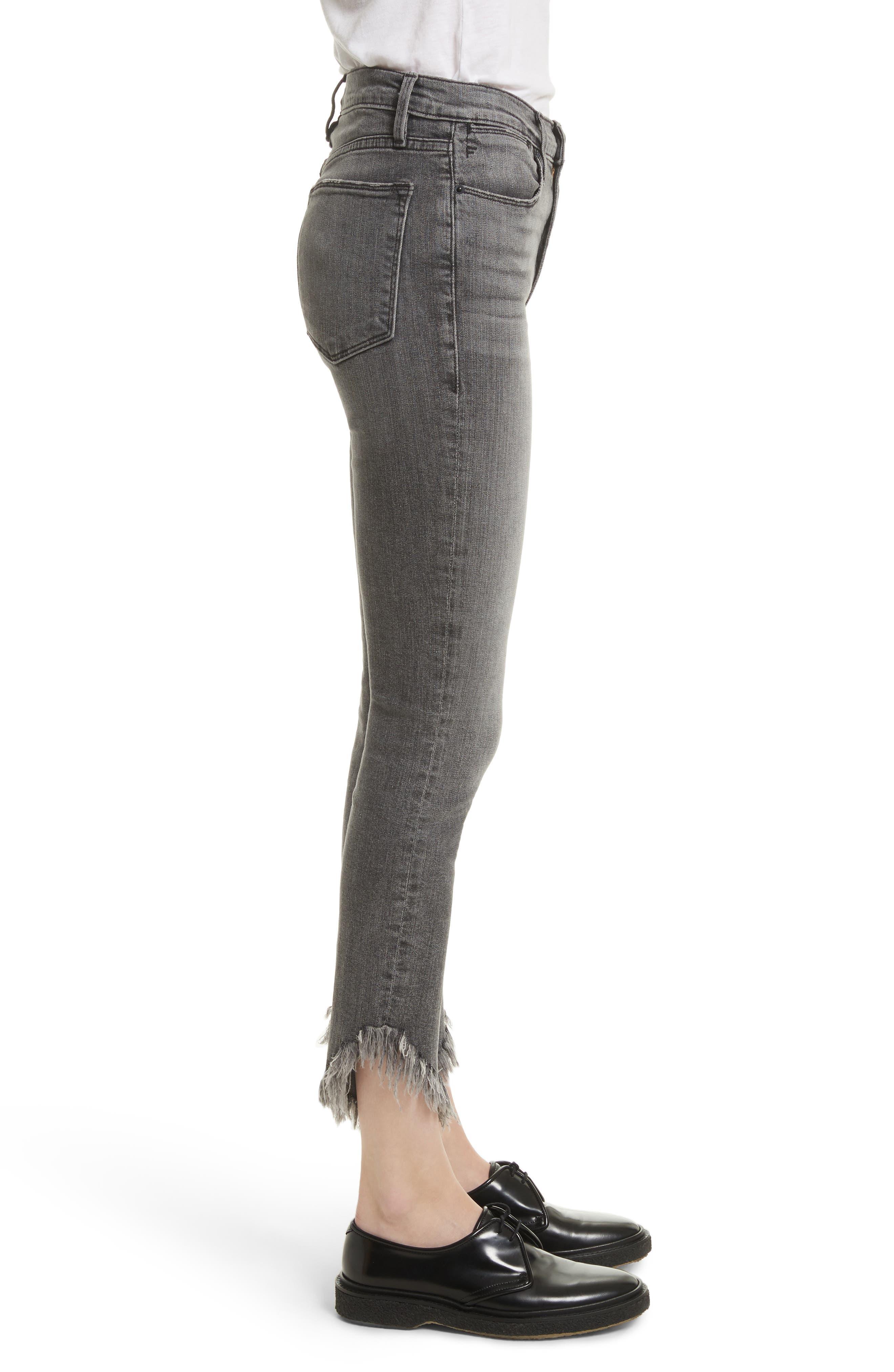 Le High Shredded Skinny Jeans,                             Alternate thumbnail 4, color,                             Berwick