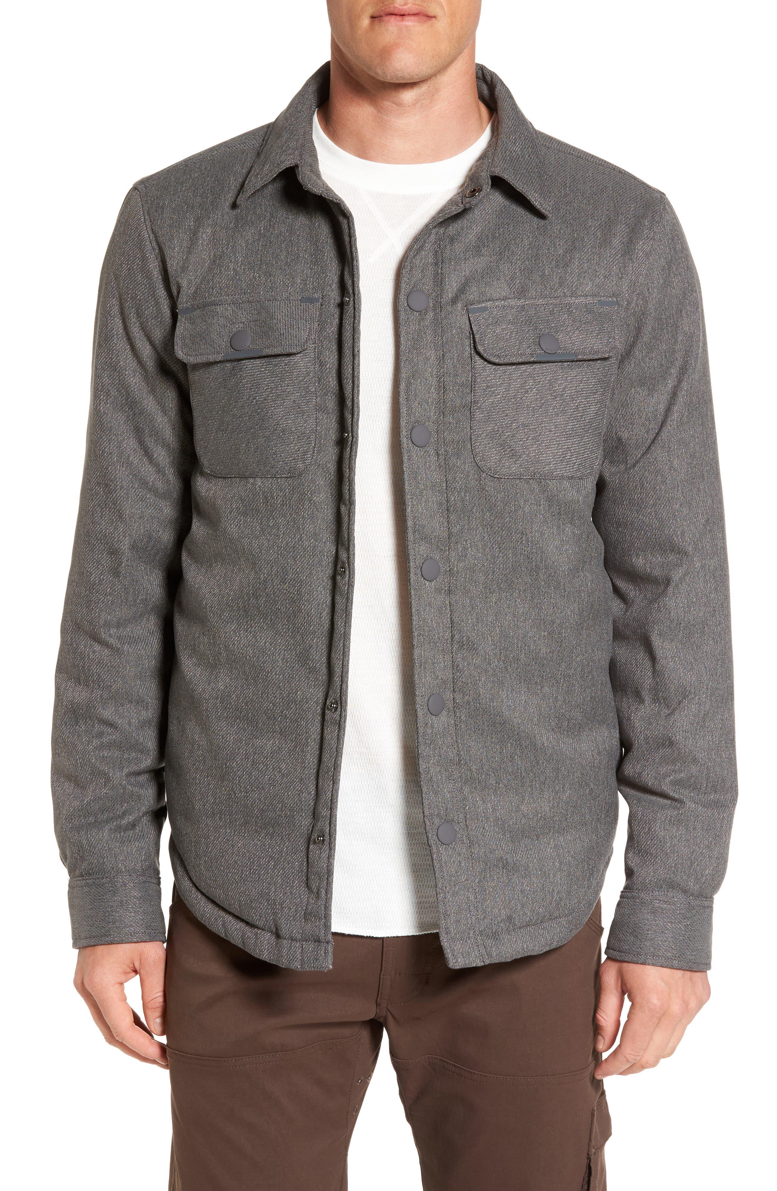 Showdown Shirt Jacket,                         Main,                         color, Charcoal