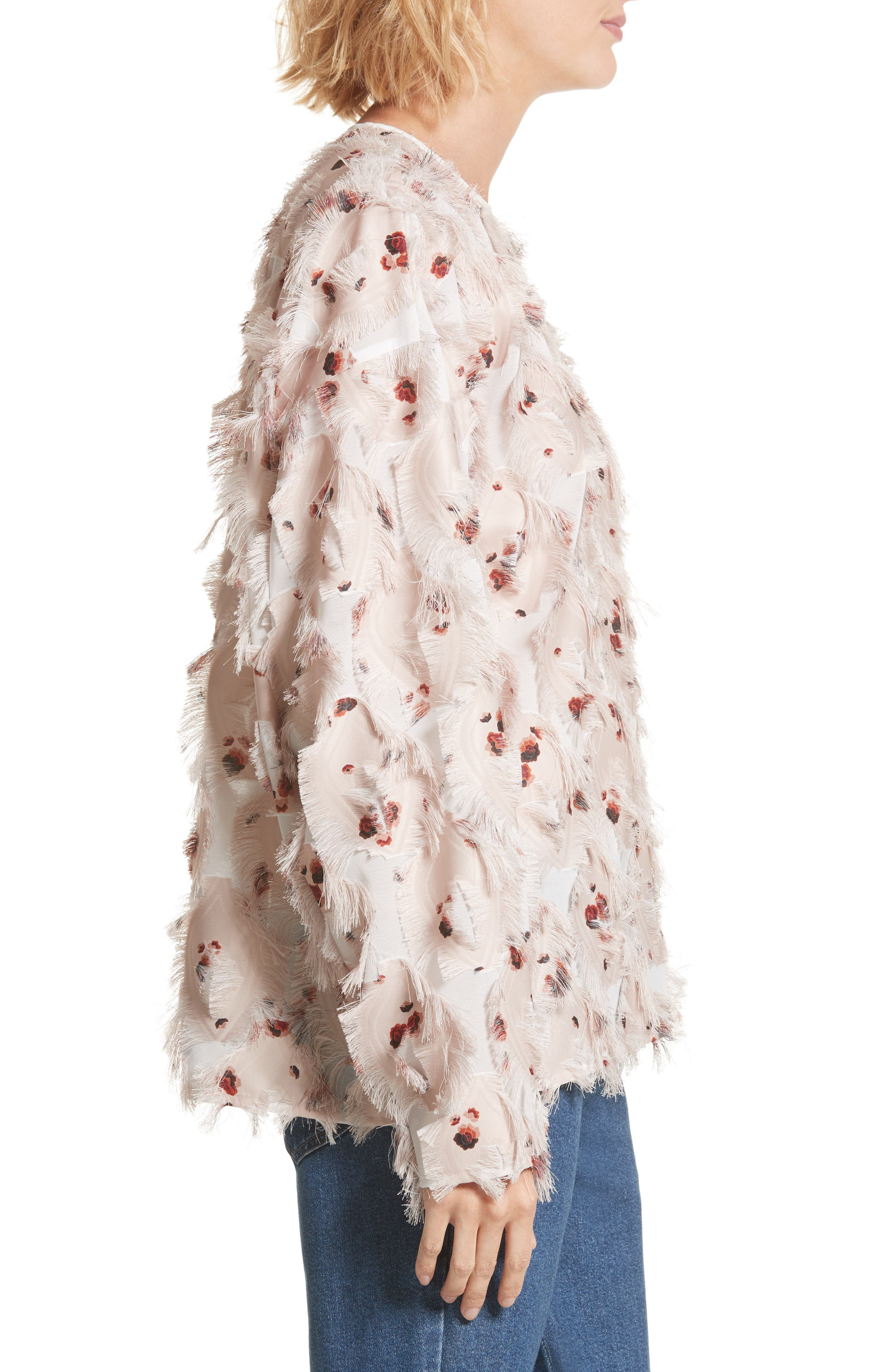 Alternate Image 4  - See by Chloé Feather Jacquard Blouse