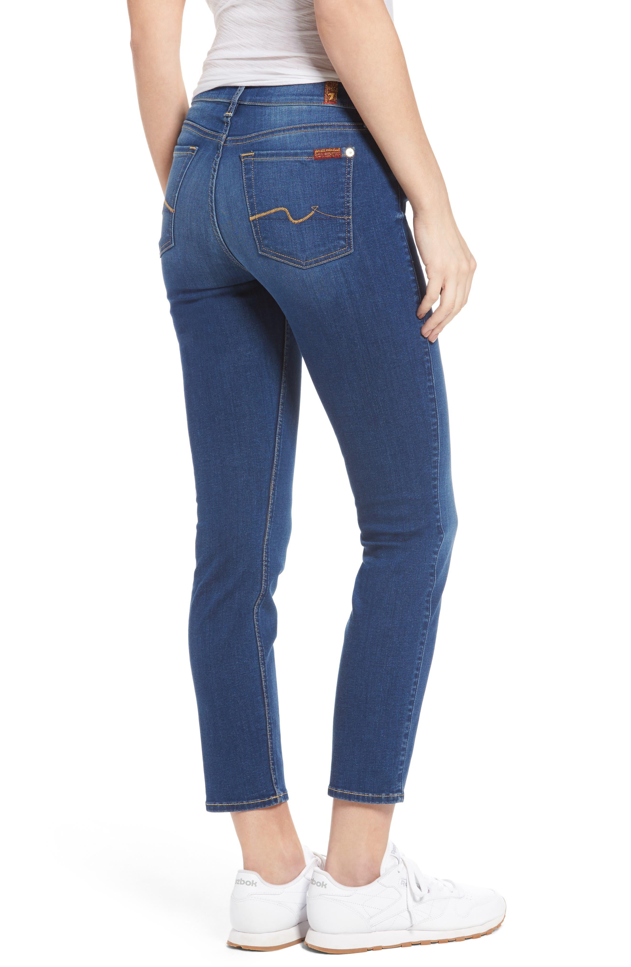Alternate Image 2  - 7 For All Mankind® Roxanne Ankle Skinny Jeans (Manhattan)