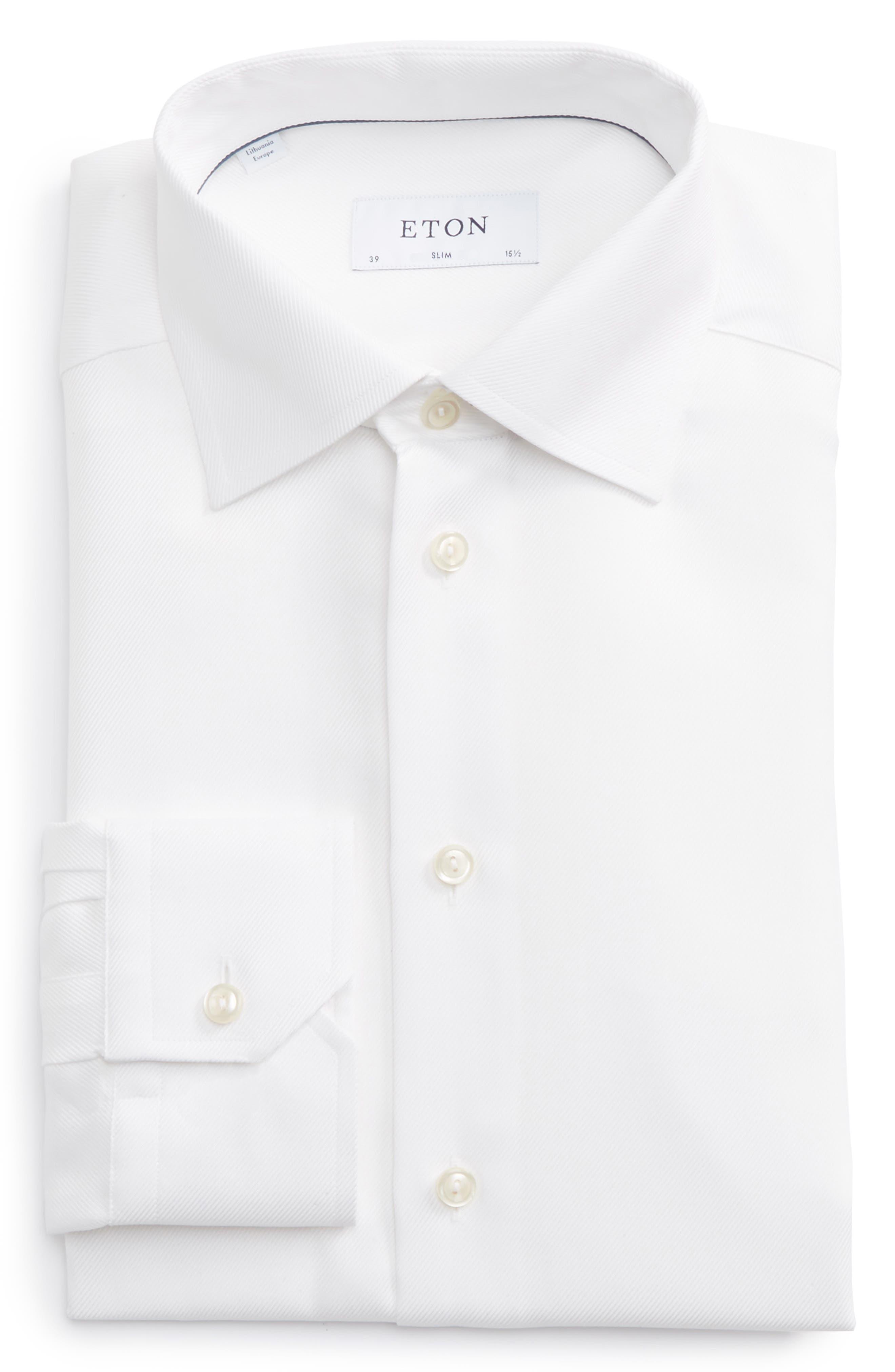 Main Image - Eton Slim Fit Cavalry Twill Dress Shirt