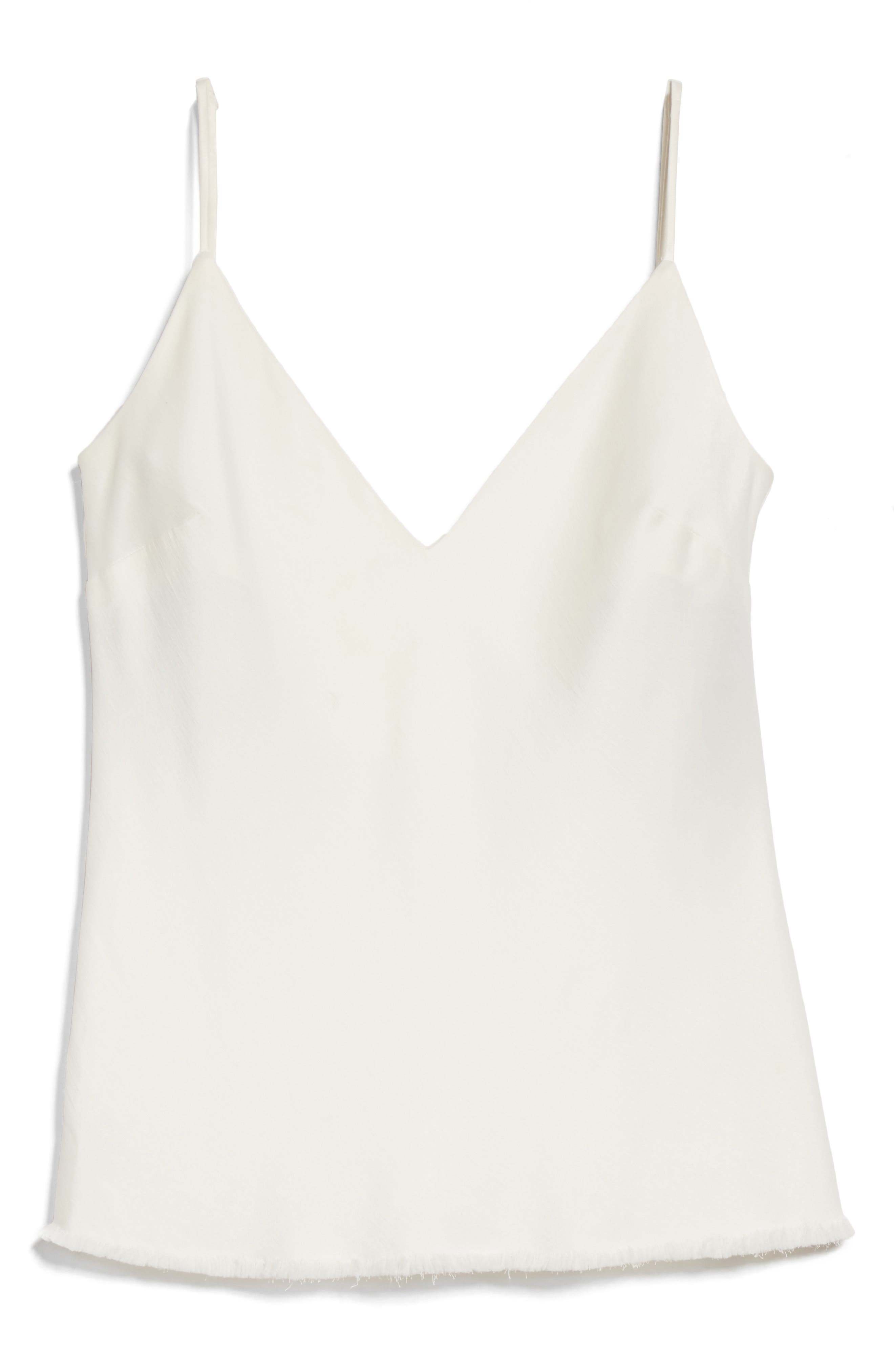 Satin Bias Tank,                             Alternate thumbnail 6, color,                             Off White