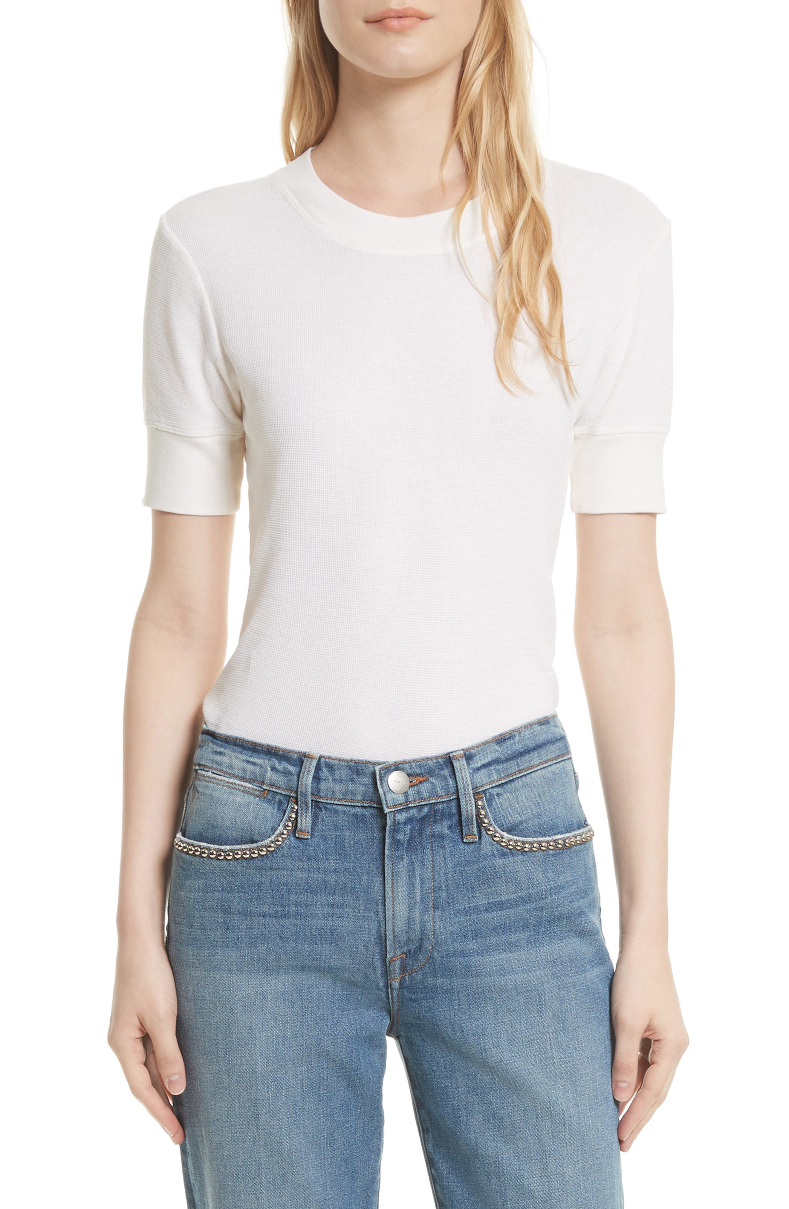 Cotton Tee,                         Main,                         color, Off White