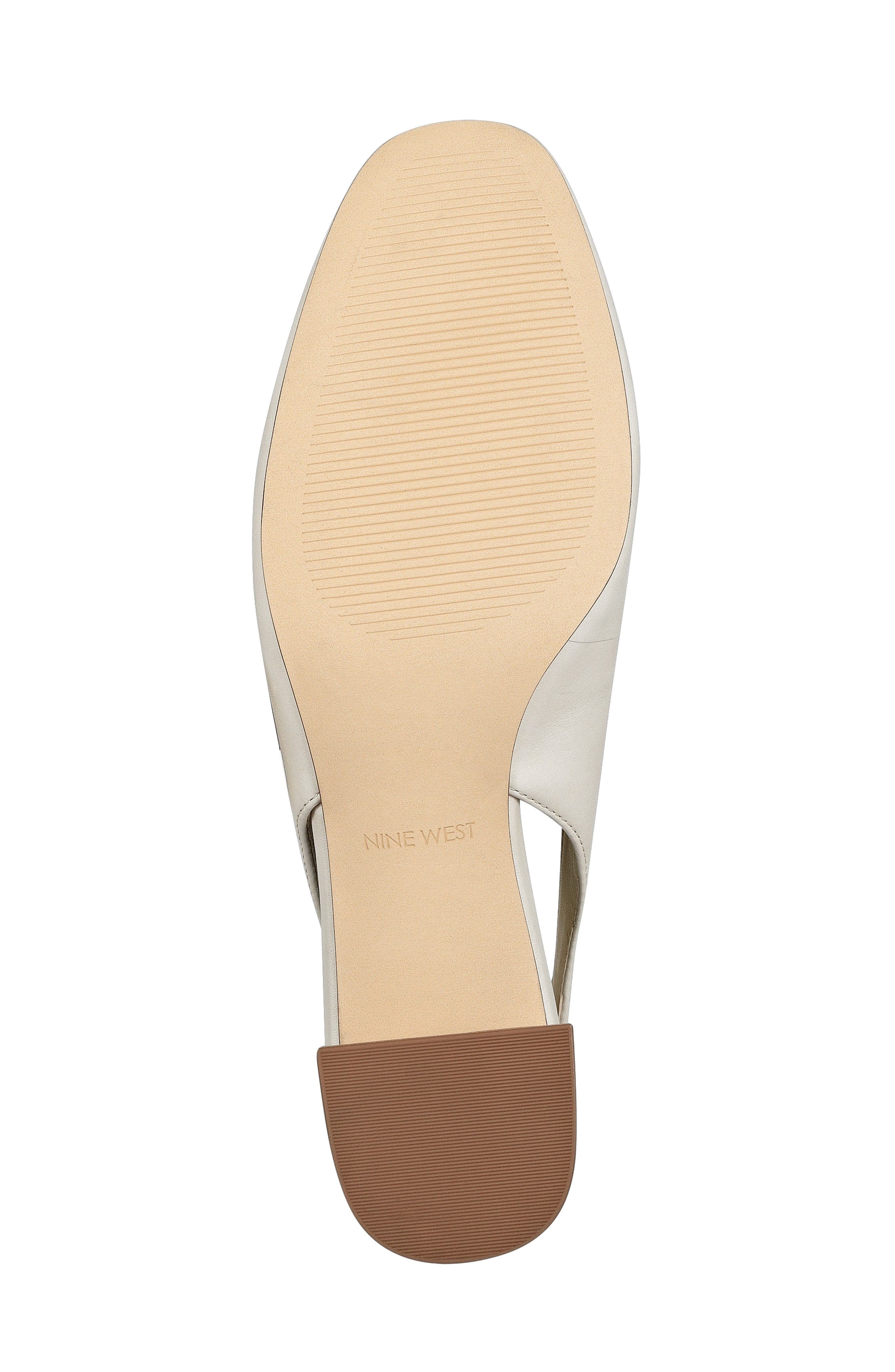 Wendor Slingback Pump,                             Alternate thumbnail 6, color,                             Off White Leather