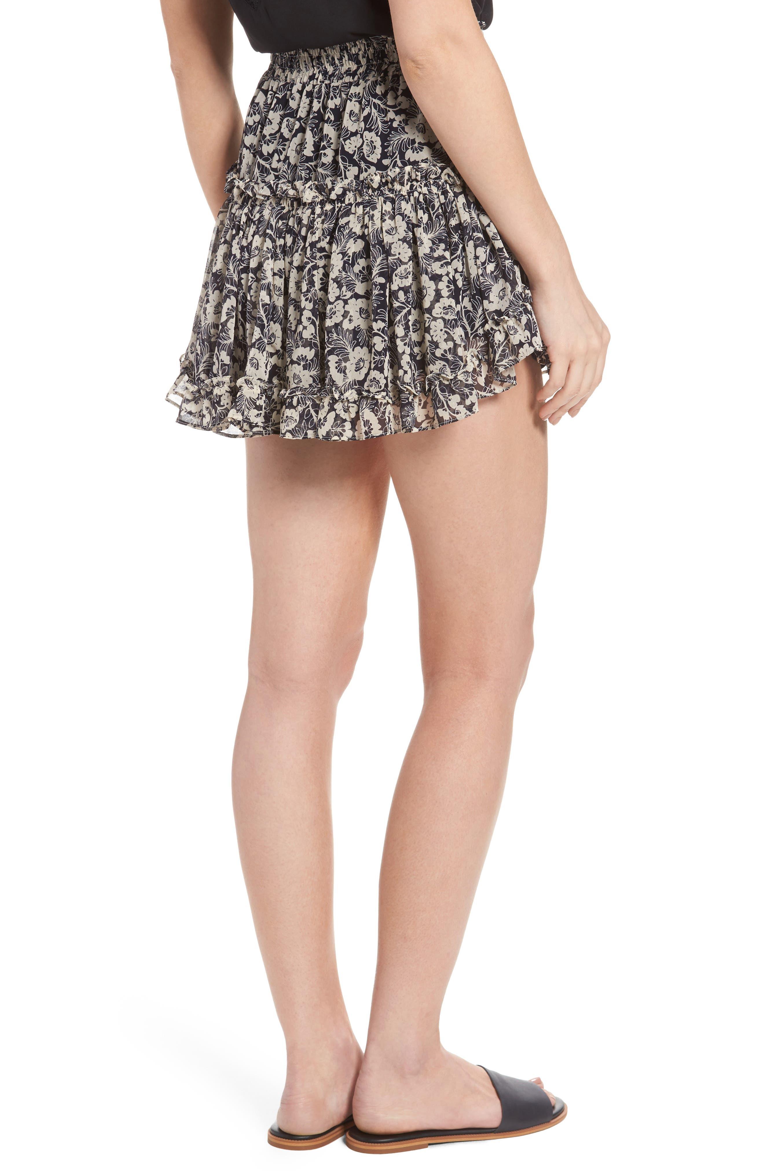 Alternate Image 2  - MISA Los Angeles Marion Floral Print Miniskirt