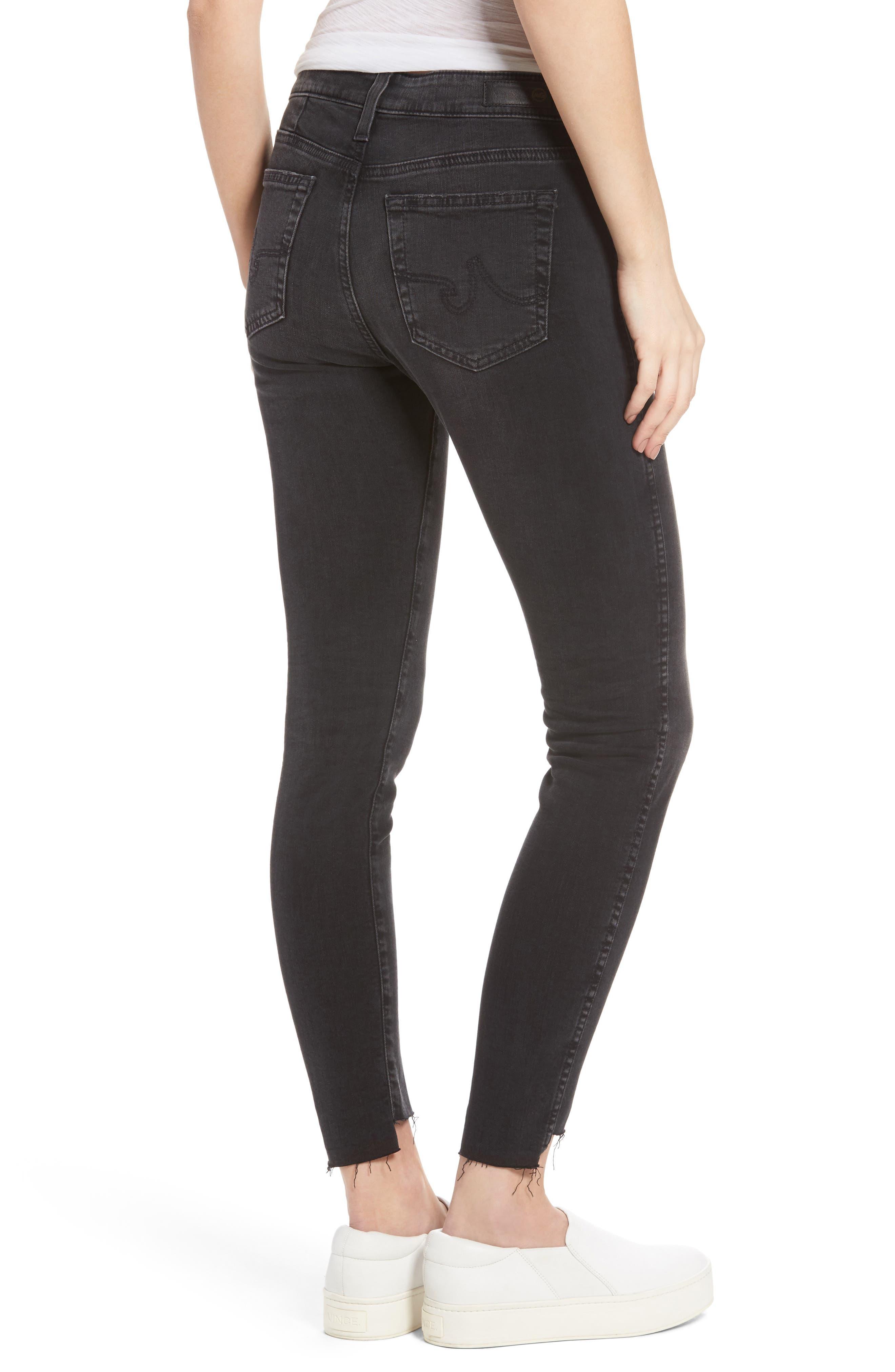 Alternate Image 3  - AG The Farrah High Waist Ankle Skinny Jeans (Thirteen)