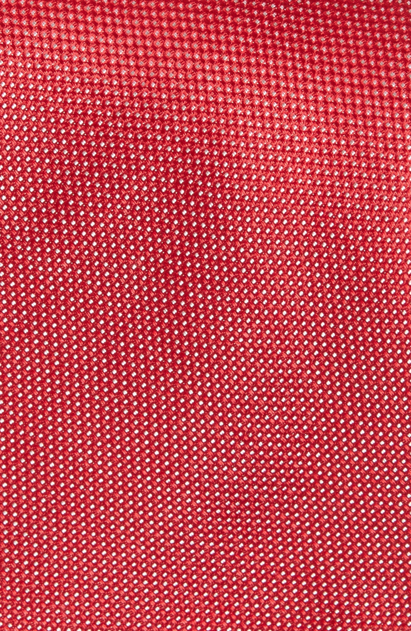 Rawson Solid Silk Tie,                             Alternate thumbnail 2, color,                             Red