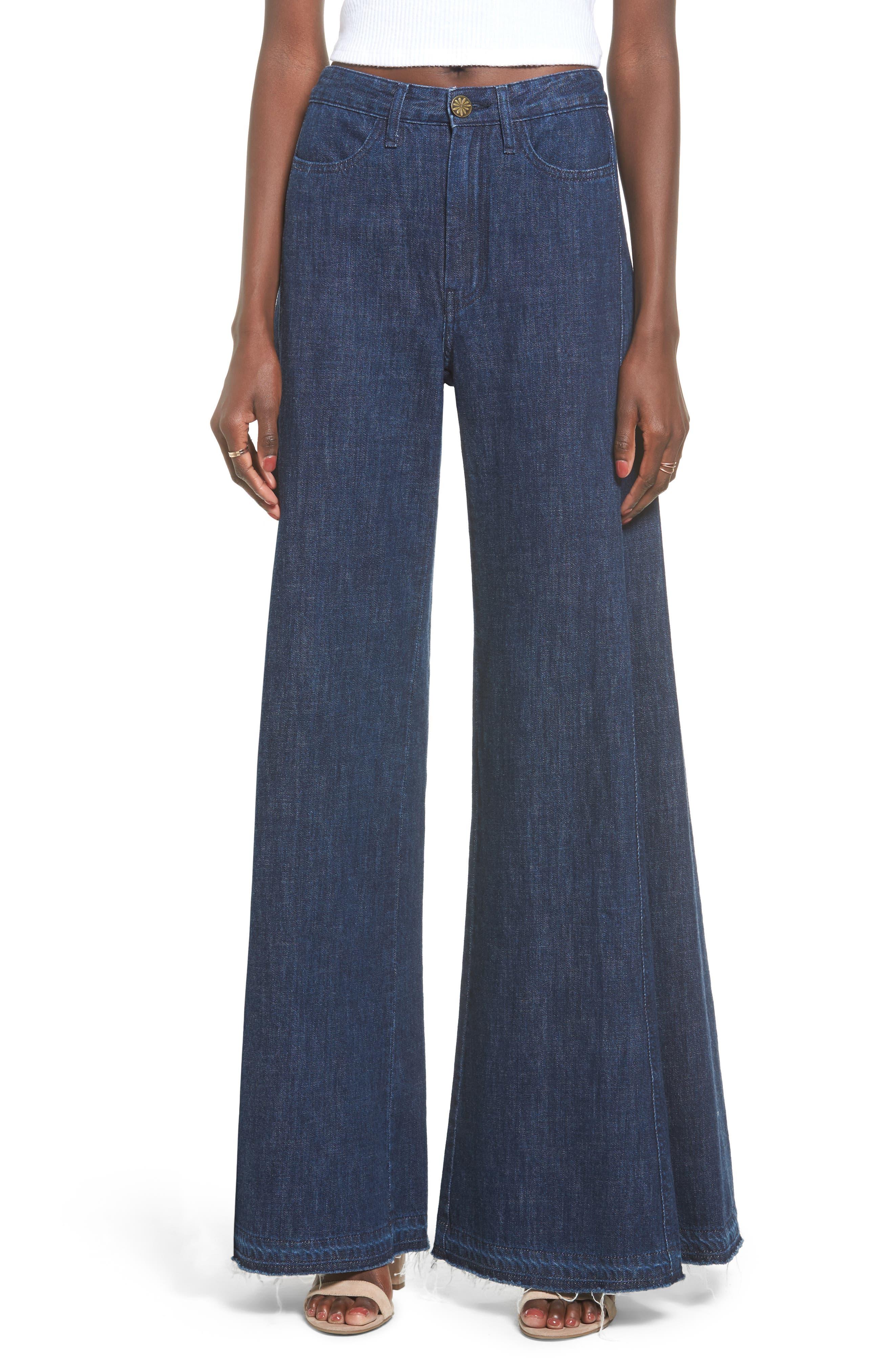 San Fran Super Flare Denim Pants,                         Main,                         color, High Seas
